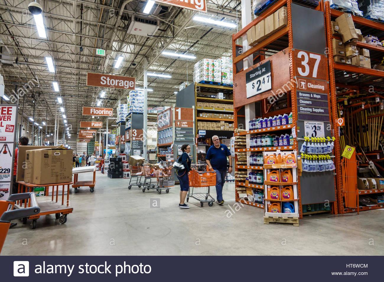 Miami Florida Tienda Home Depot Home Improvement Pasillo