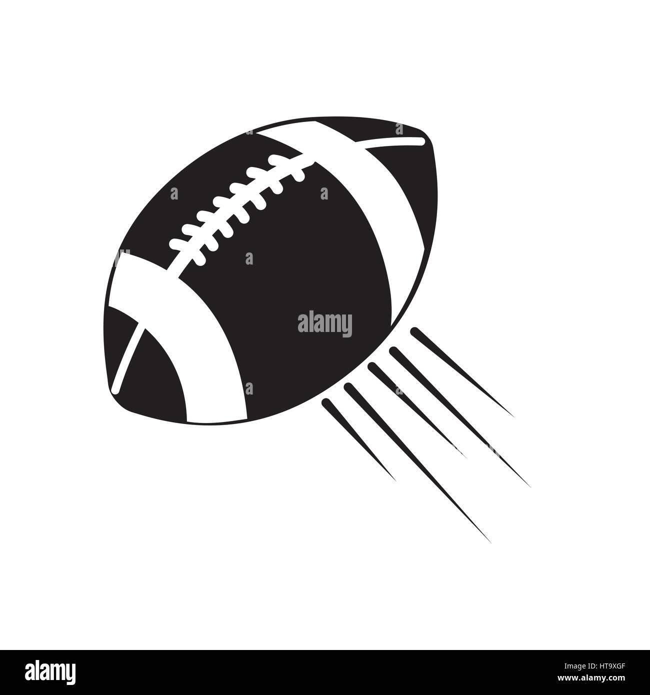 Contorno de fútbol americano y su icono de bola Ilustración del Vector
