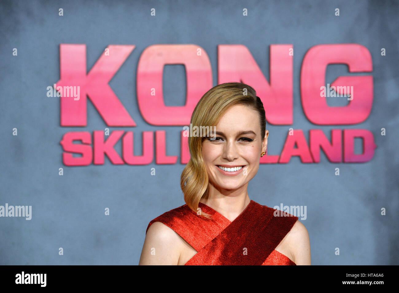 Los Angeles, Estados Unidos. 08 Mar, 2017. LOS ANGELES, CA. Marzo 8, 2017: La actriz Brie Larson en el estreno de Imagen De Stock