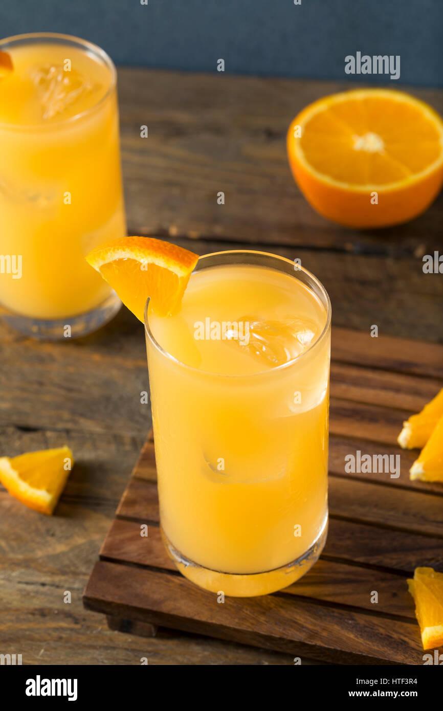 Alcohólicas caseras Gin y zumo de naranja y pomelo con cócteles Foto de stock