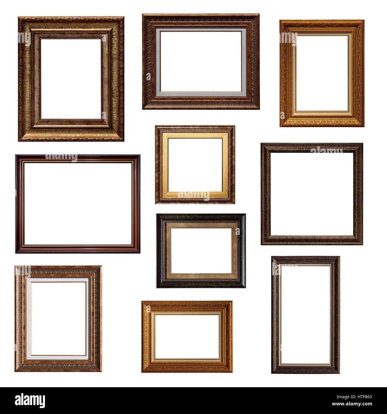 Conjunto de marcos de imagen. Collage de diferentes marcos de ...