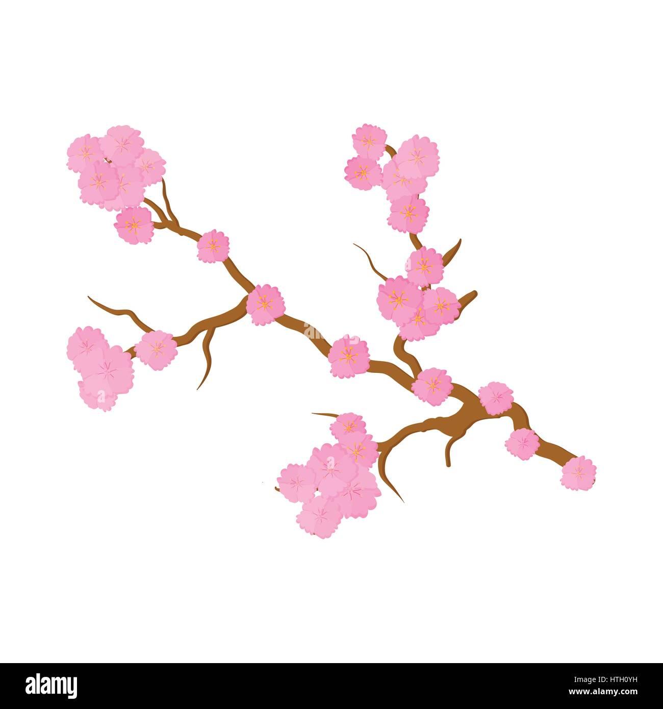 Los Cerezos En Flor Sakura Flores Icono Estilo De Dibujos Animados