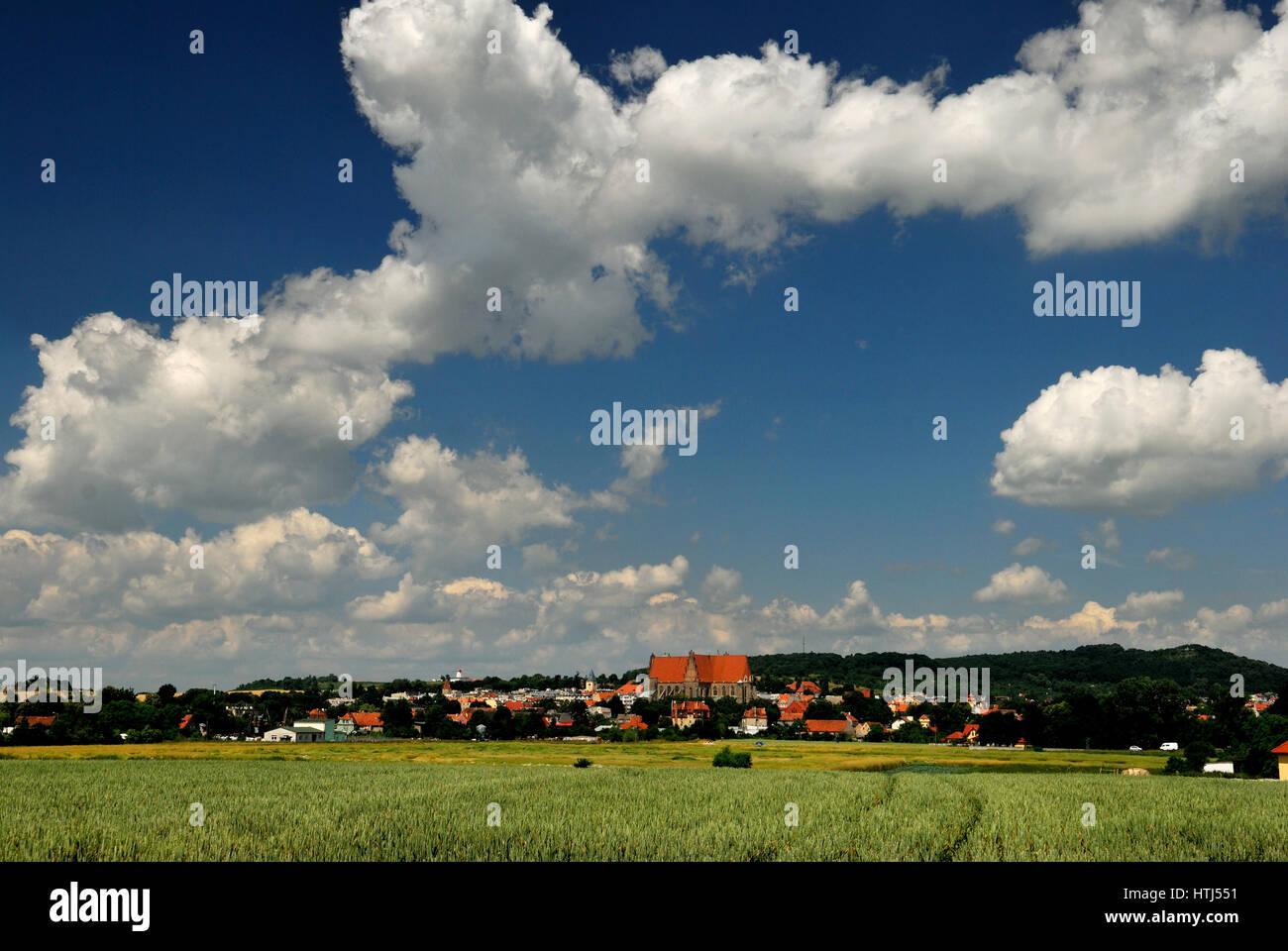 Dolnoslaskie, Europa, paisaje, niederschlesien, viejo, exterior, foto de Kazimierz jurewicz, Polonia, silesia, strzegom, Imagen De Stock
