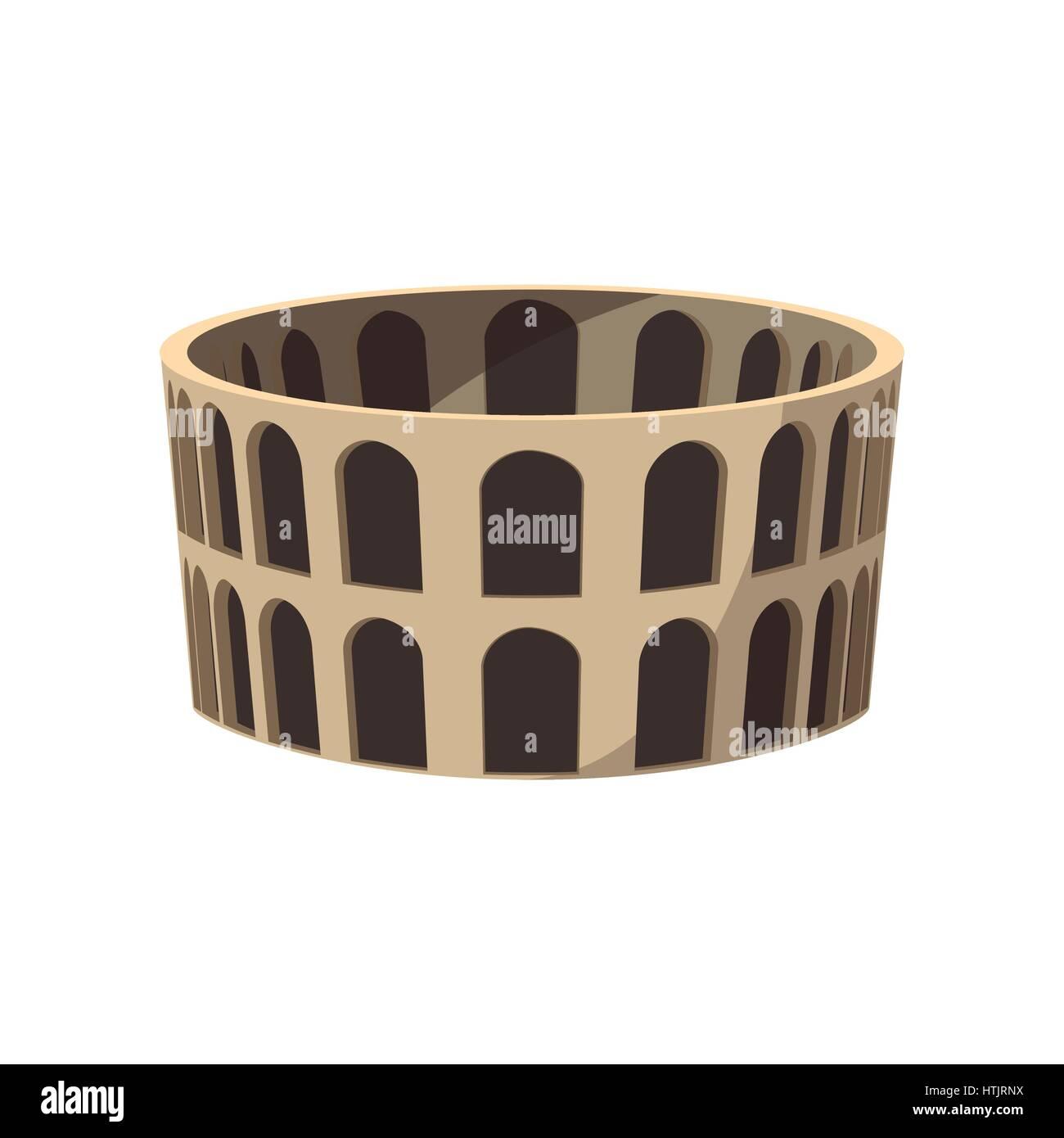 Coliseo Romano El Icono De Estilo De Dibujos Animados Ilustración