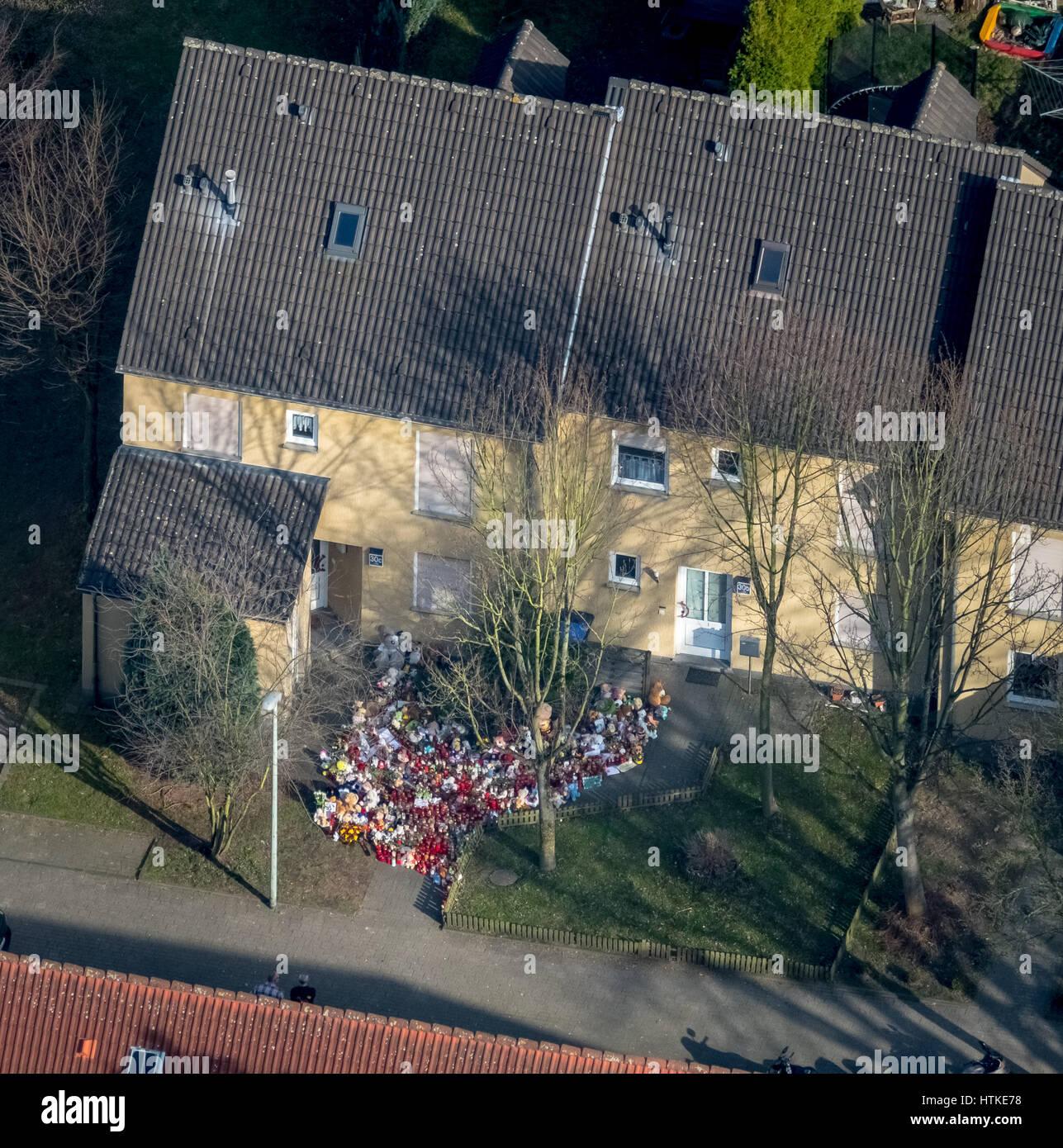 Herne niño caso de asesinato, Asentamiento en Dannekamp, hogar del asesino Marcel Hesse y los nueve años Imagen De Stock