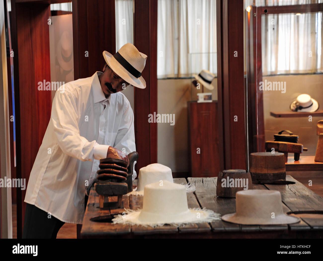 Los sombreros de Panamá en la producción