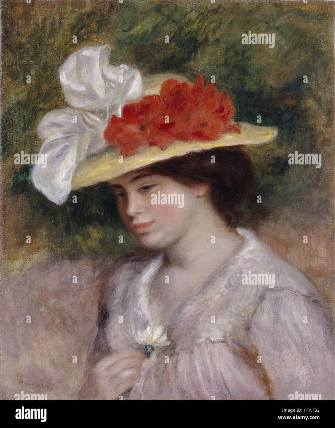 Pierre Auguste Renoir - Mujer con sombrero de flores - Proyecto de arte de  Google Imagen 93c65bcd3df4