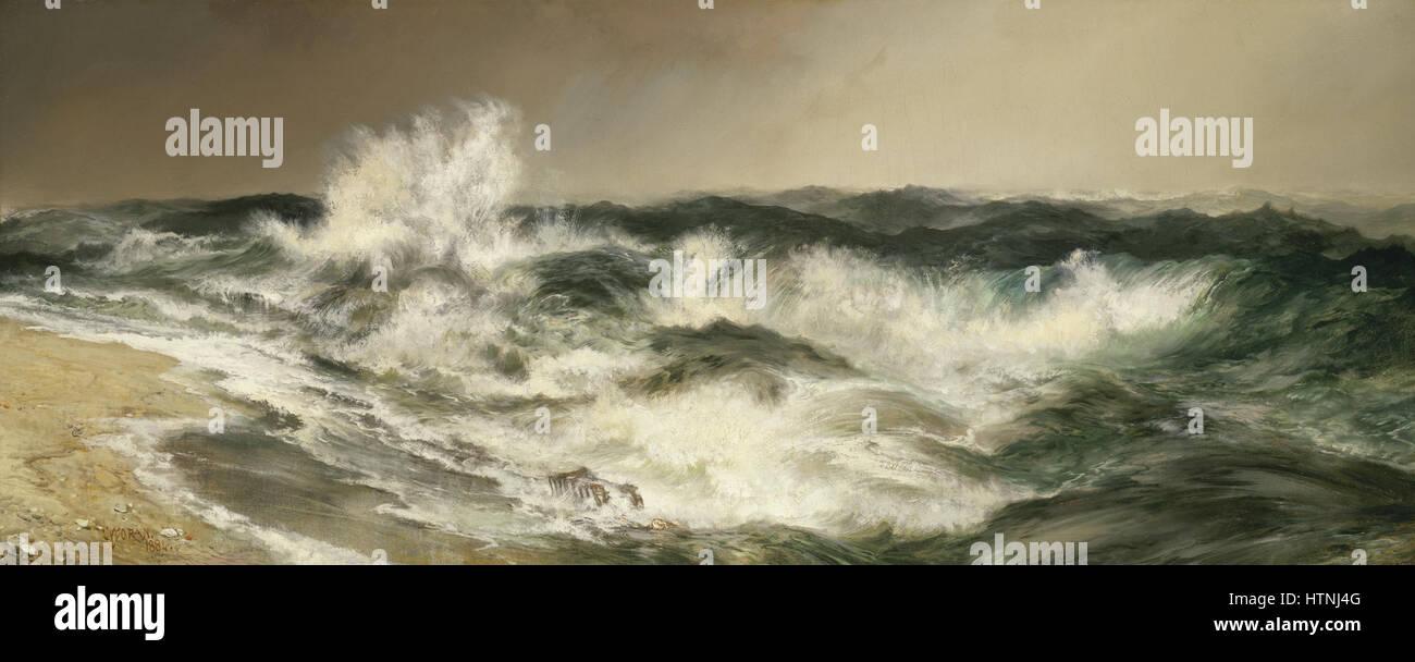 Thomas Moran - el Gran Mar rotundo Imagen De Stock