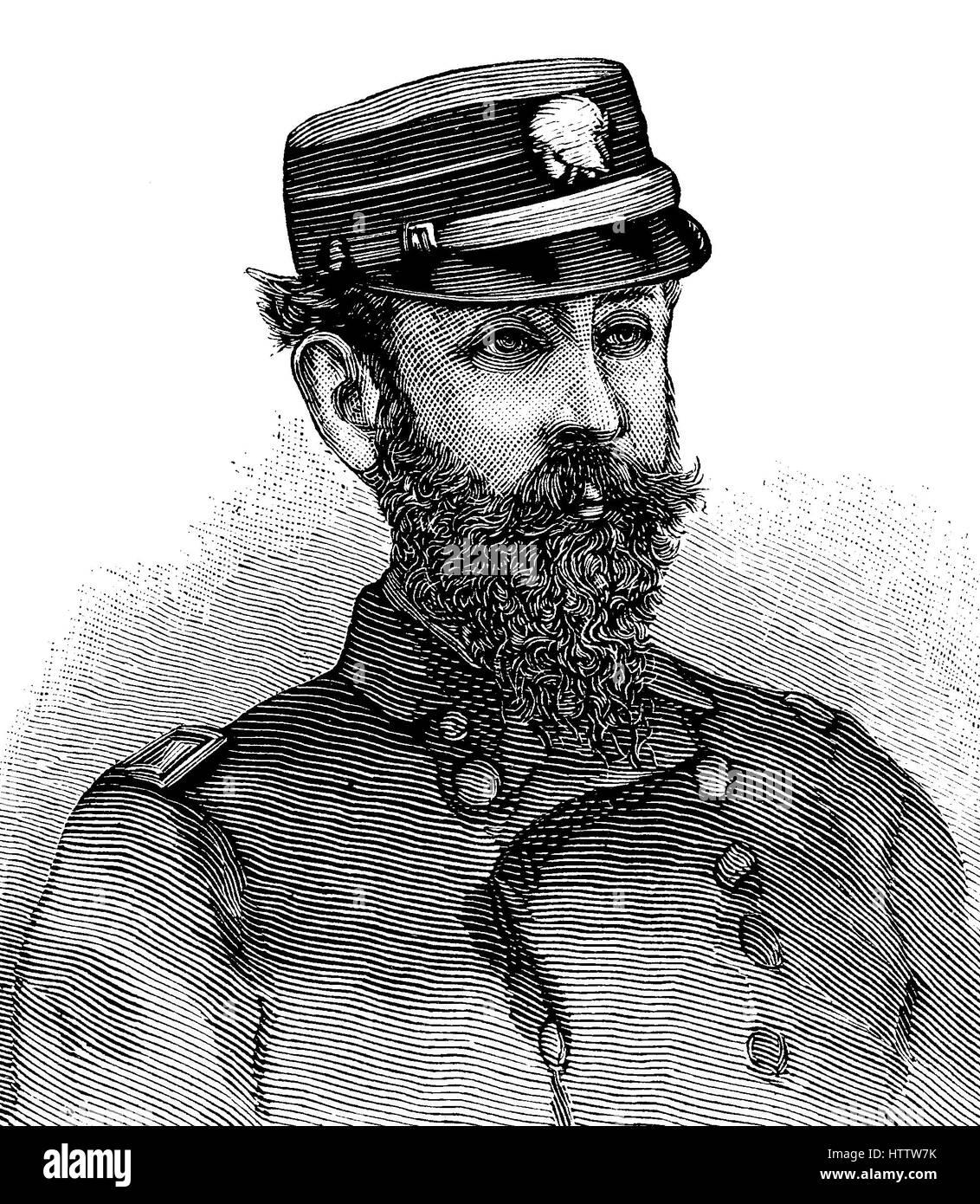 El capitán W.G. Schley fue enviado para conmemorar el rescate de Greely y sus camaradas, que se encontraban Imagen De Stock