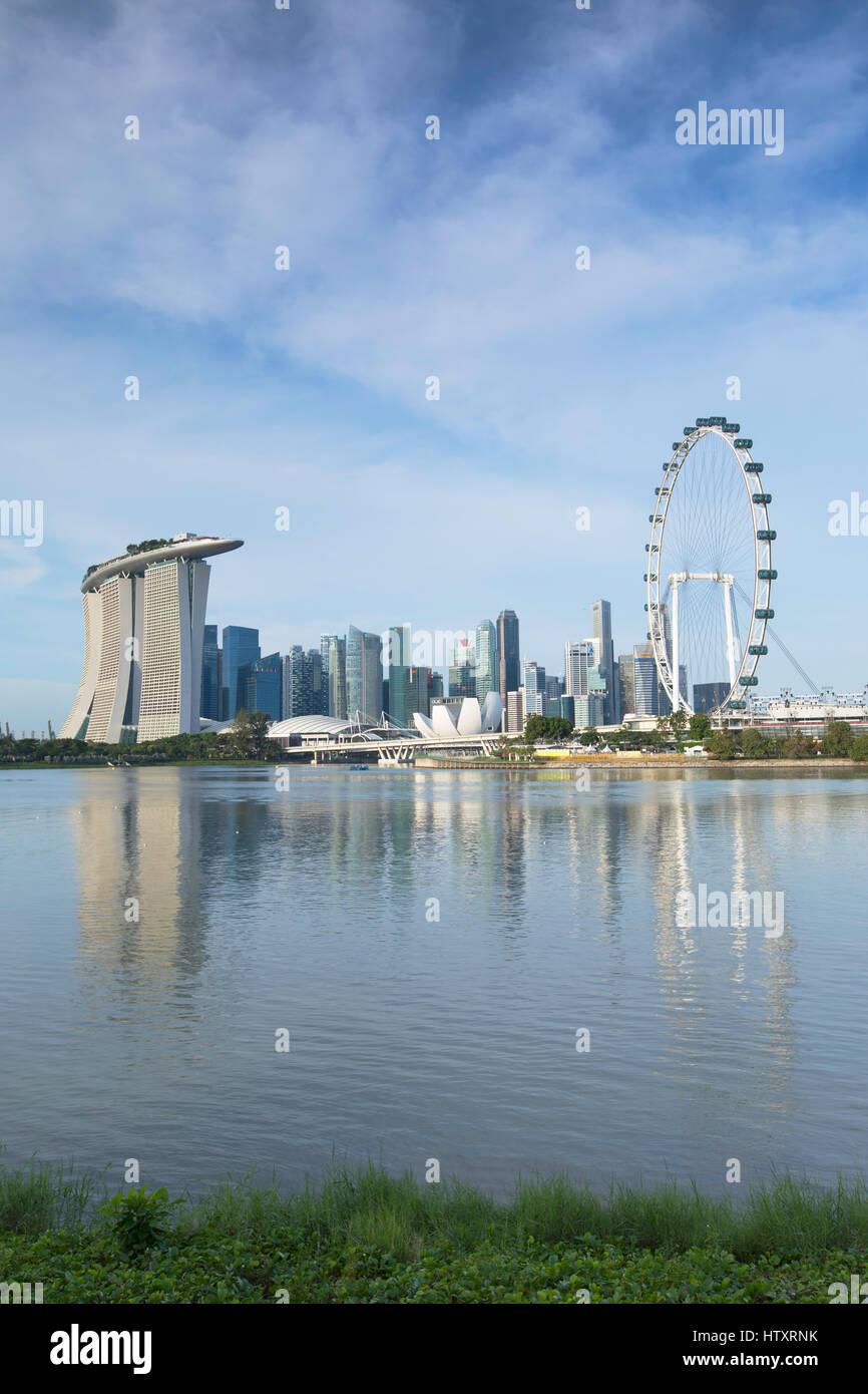 El Singapore Flyer Marina Bay Sands Hotel Y Rascacielos Singapur