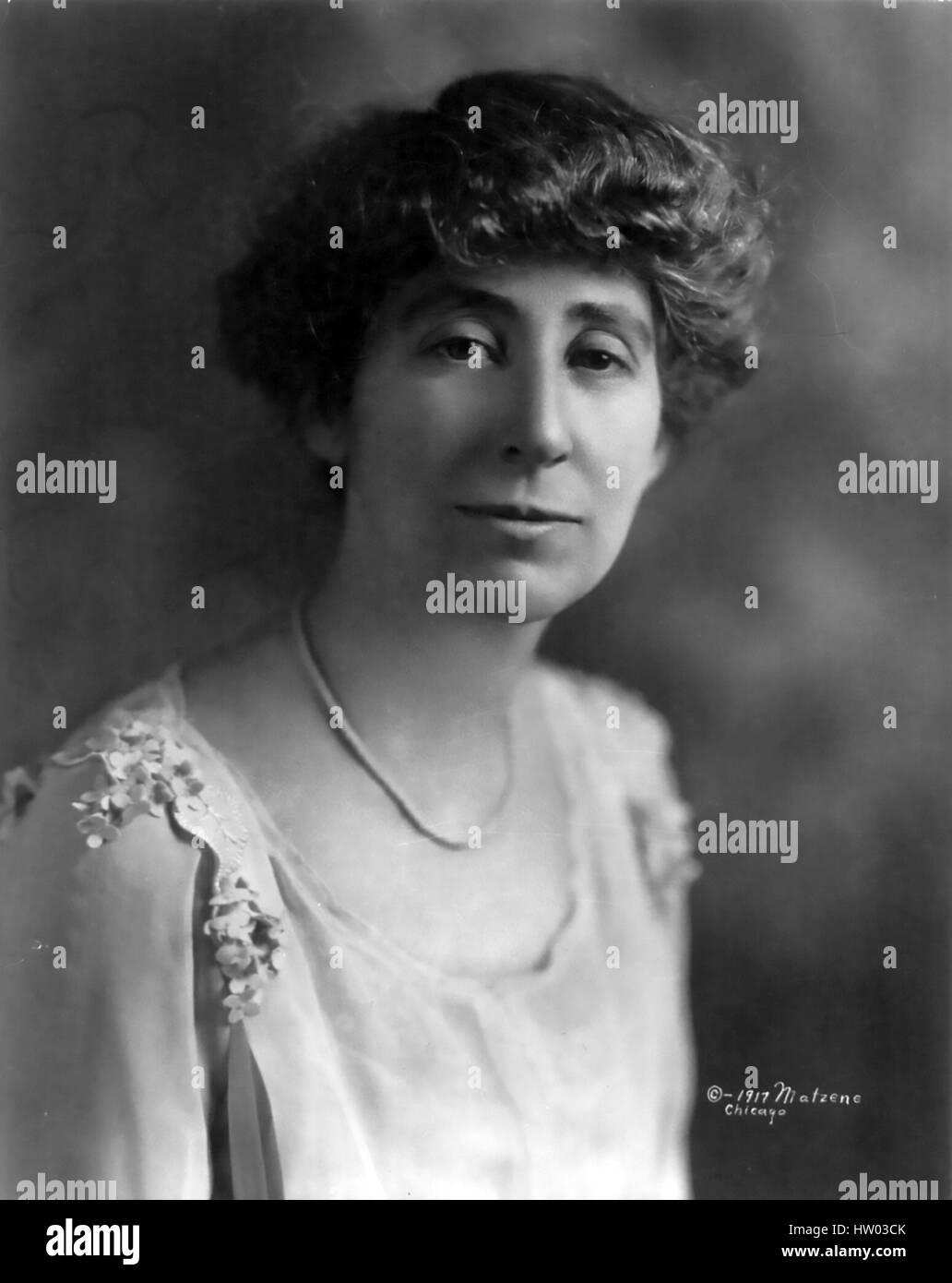 JEANETTE RANKIN (1880-1973) político estadounidense, pacifista y activista por los derechos de las mujeres, Imagen De Stock