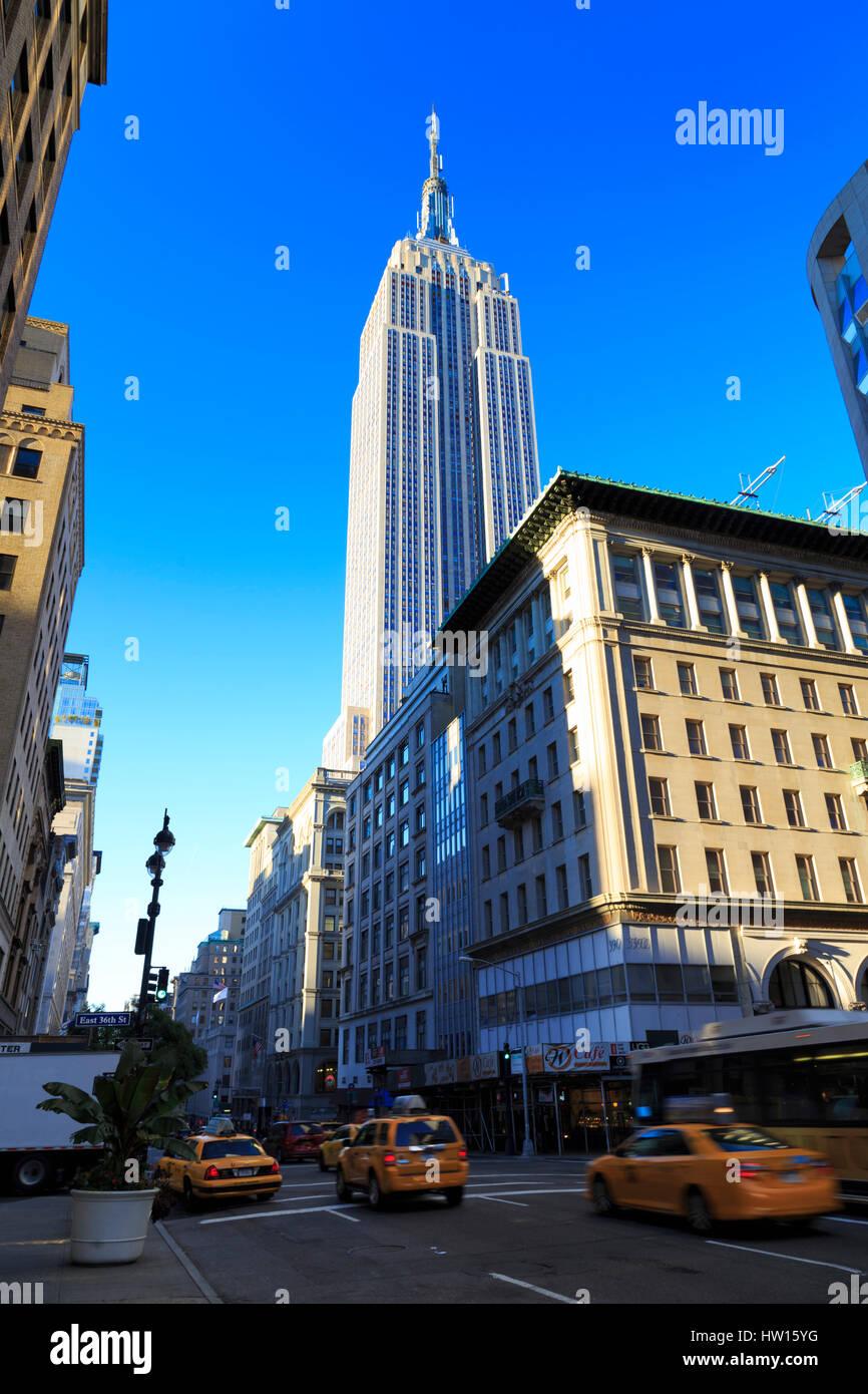 Los Estados Unidos, Nueva York, Manhattan, el Empire State Building. Imagen De Stock