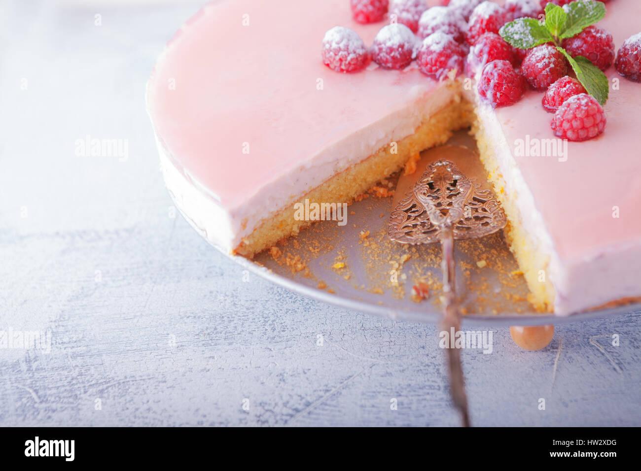 Yogur cheesecake casero Imagen De Stock