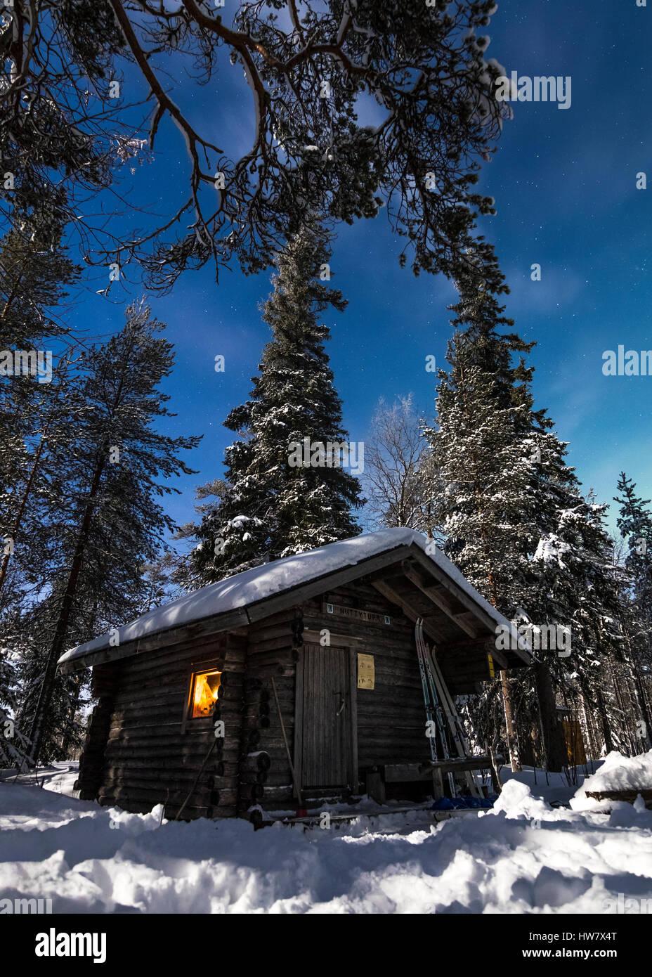Cabaña en el bosque Imagen De Stock