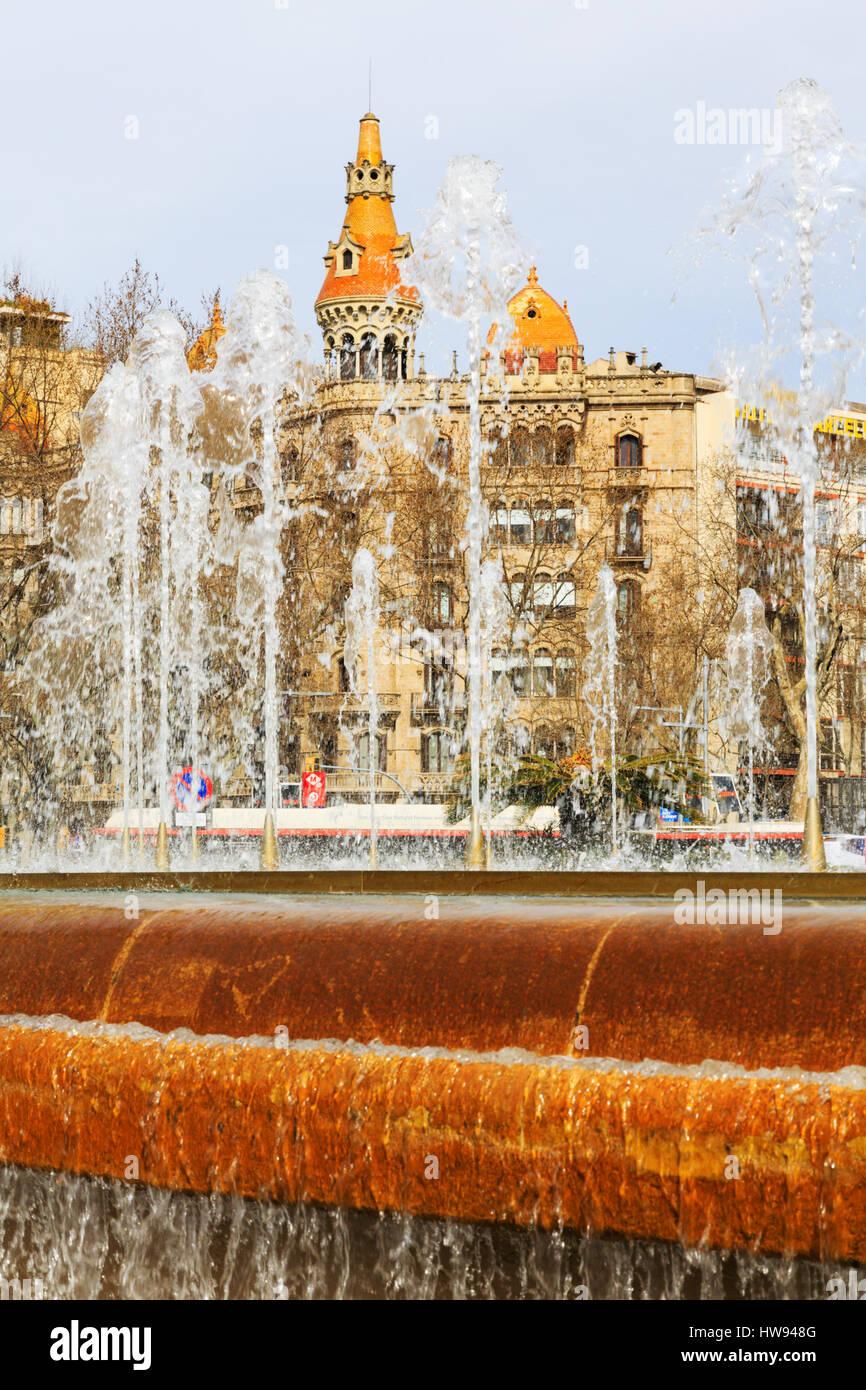 Casos Antoni Rocamora, construida por Josep Bassegoda i amigo en el Passeig de Gracia, Barcelona, Cataluña, Imagen De Stock
