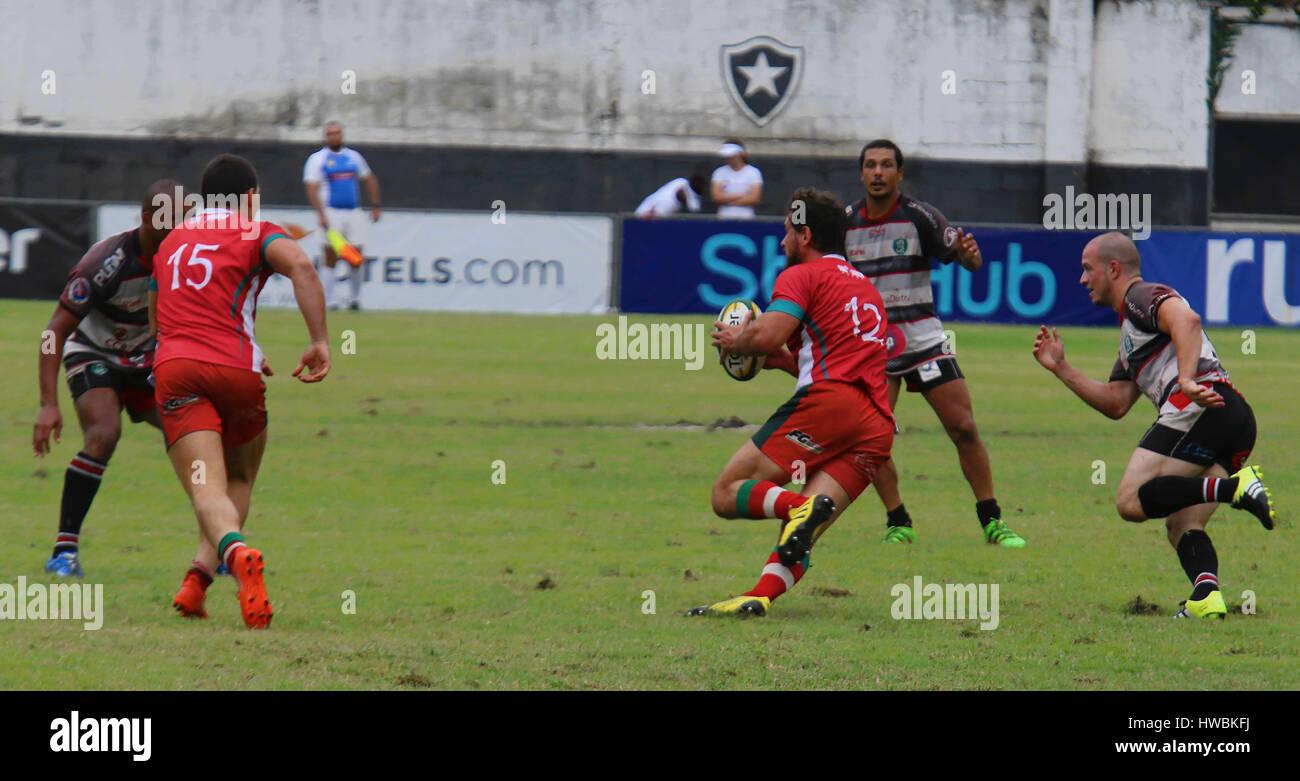 Niterói'I, RJ - 19.03.2017: Campeonato Brasileiro de rugby masculino - El Super Rugby Sevens hombres han Imagen De Stock