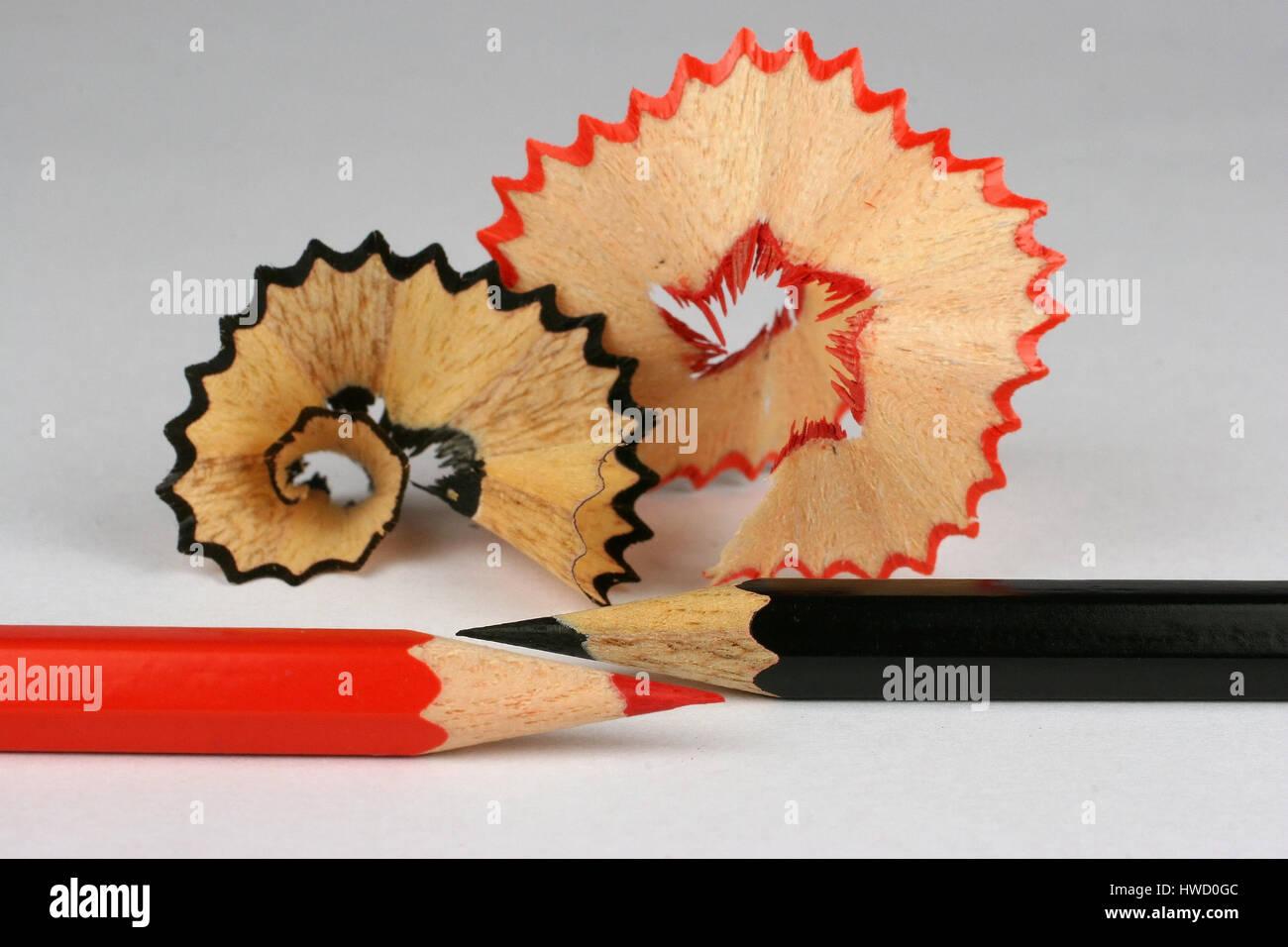 Lápices de colores y AnspitzSpa?ne, lápices de colores, lápices de colores, cosas, lápiz de Imagen De Stock