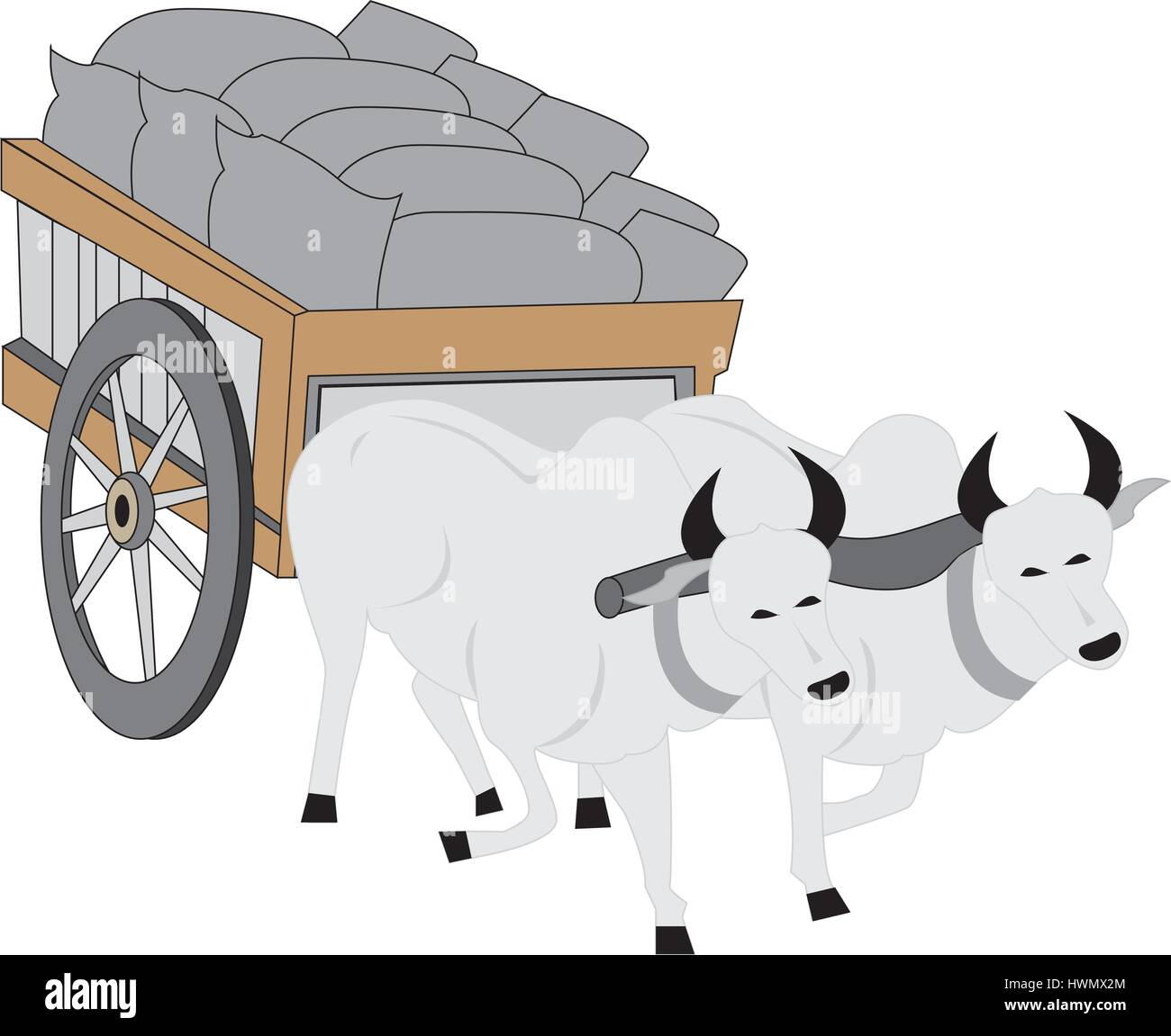 Cow Cart Clipart Carreta ilustraci&#243...