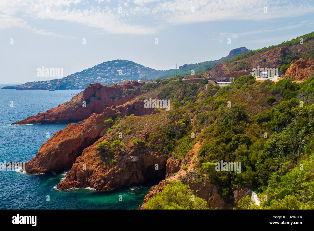 La Riviera Francesa entre Saint Tropez a Cannes Imagen De Stock
