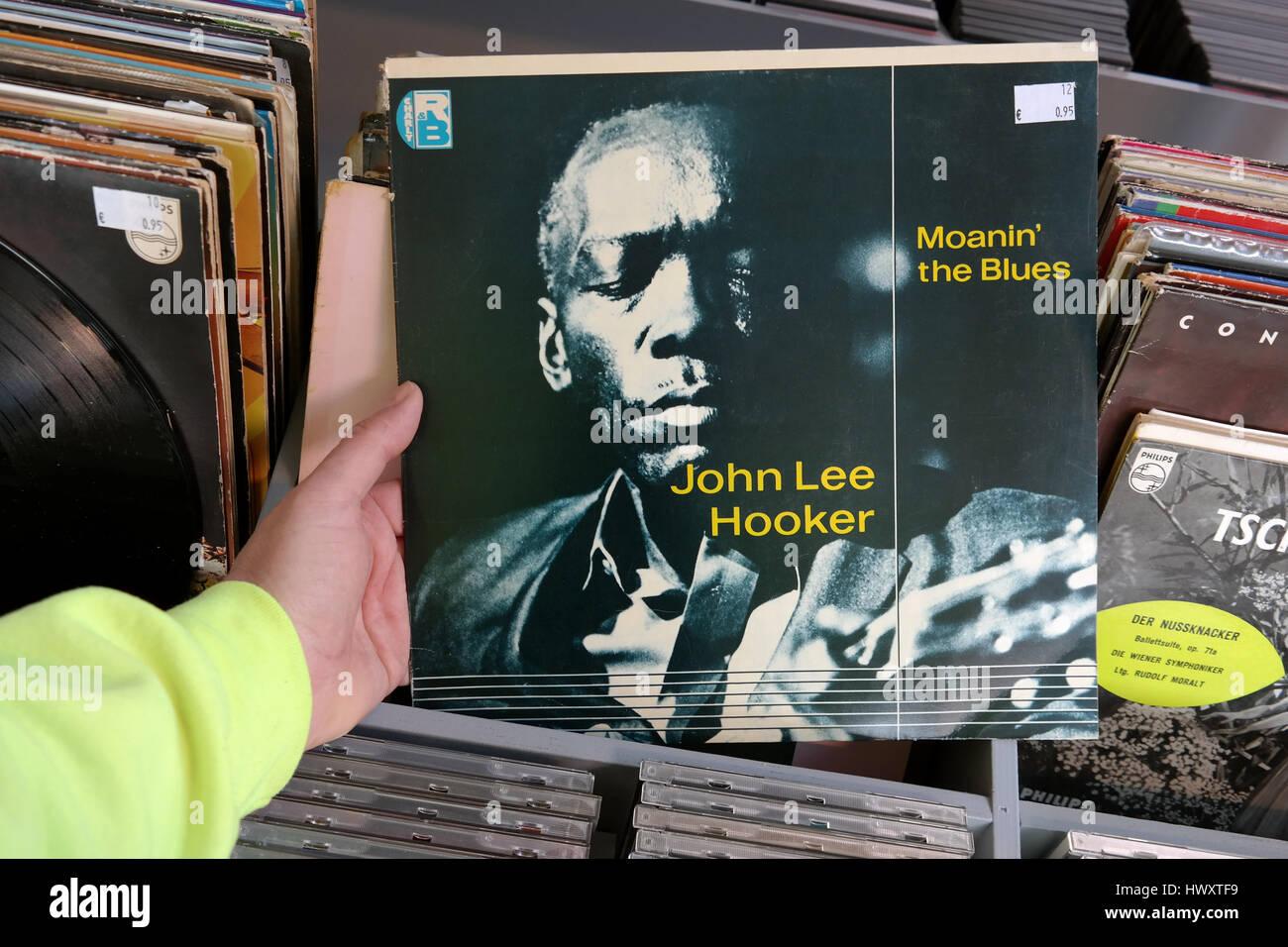 Álbum: John Lee Hooker - Moanin' Blues Imagen De Stock