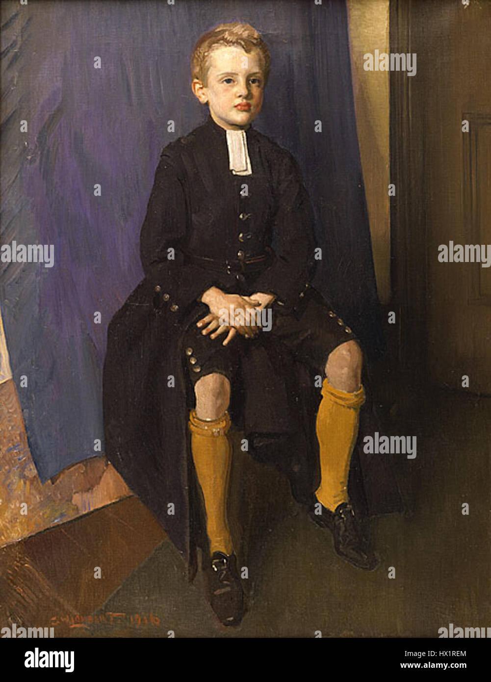 Lambert constante como un muchacho de Blue Coat. Foto de stock