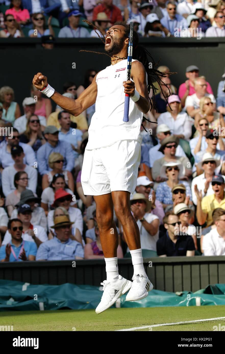 DUSTIN BROWN, jugador de tenis del All England Club de Tenis de Wimbledon en Londres, Inglaterra, 02 de julio de 2015 Foto de stock