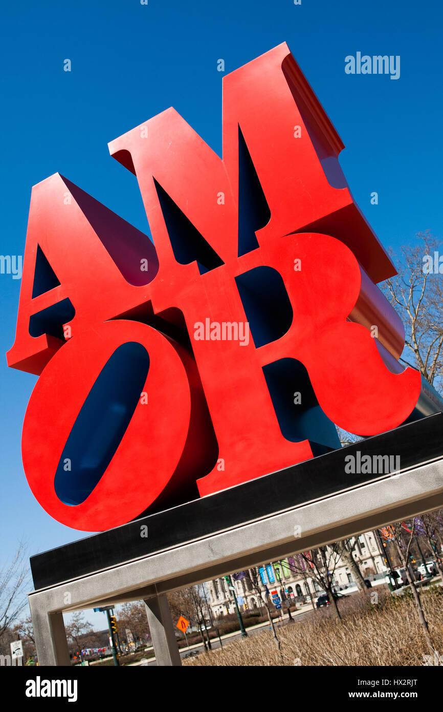 Amor estatua, la Basílica de San Pedro y san Pablo, Filadelfia, EE.UU. Imagen De Stock