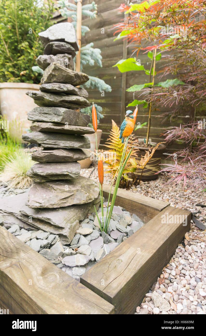 Pieza central en un jardín. Imagen De Stock