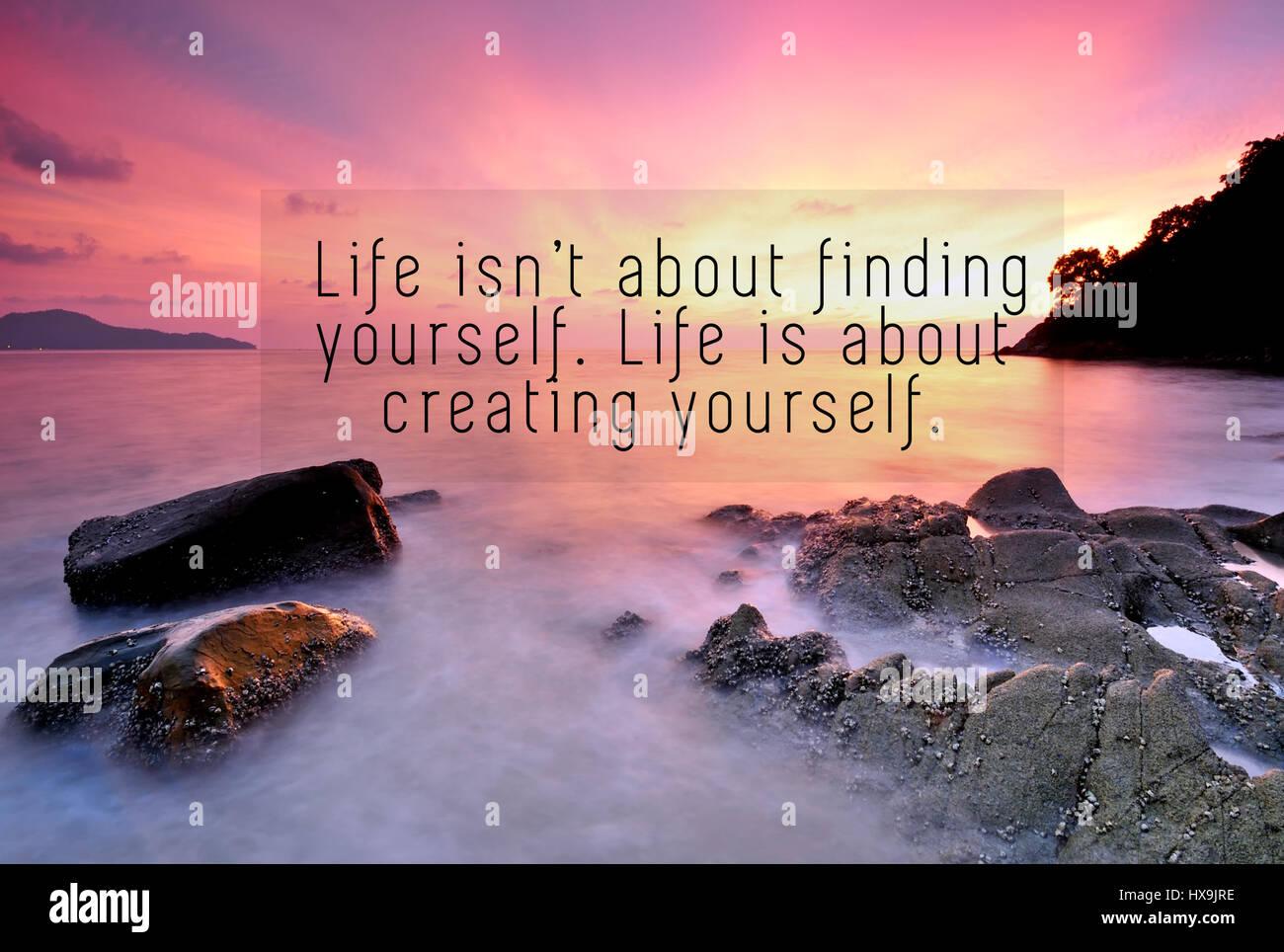 Citas de inspiración con la frase: la vida no es acerca de