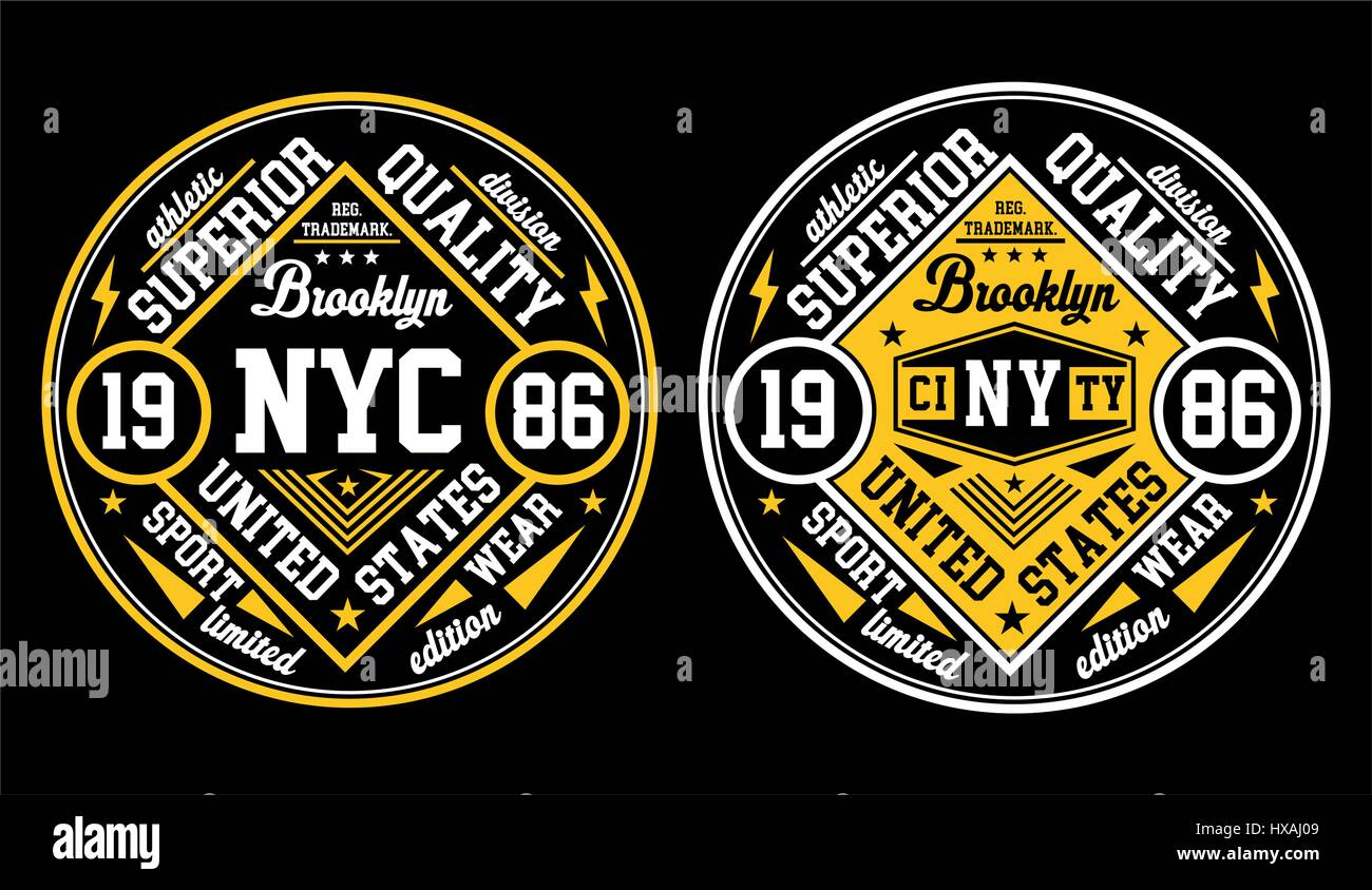 Diseño de tipografía de la ciudad de Nueva York, póster, Vector. Imagen De Stock