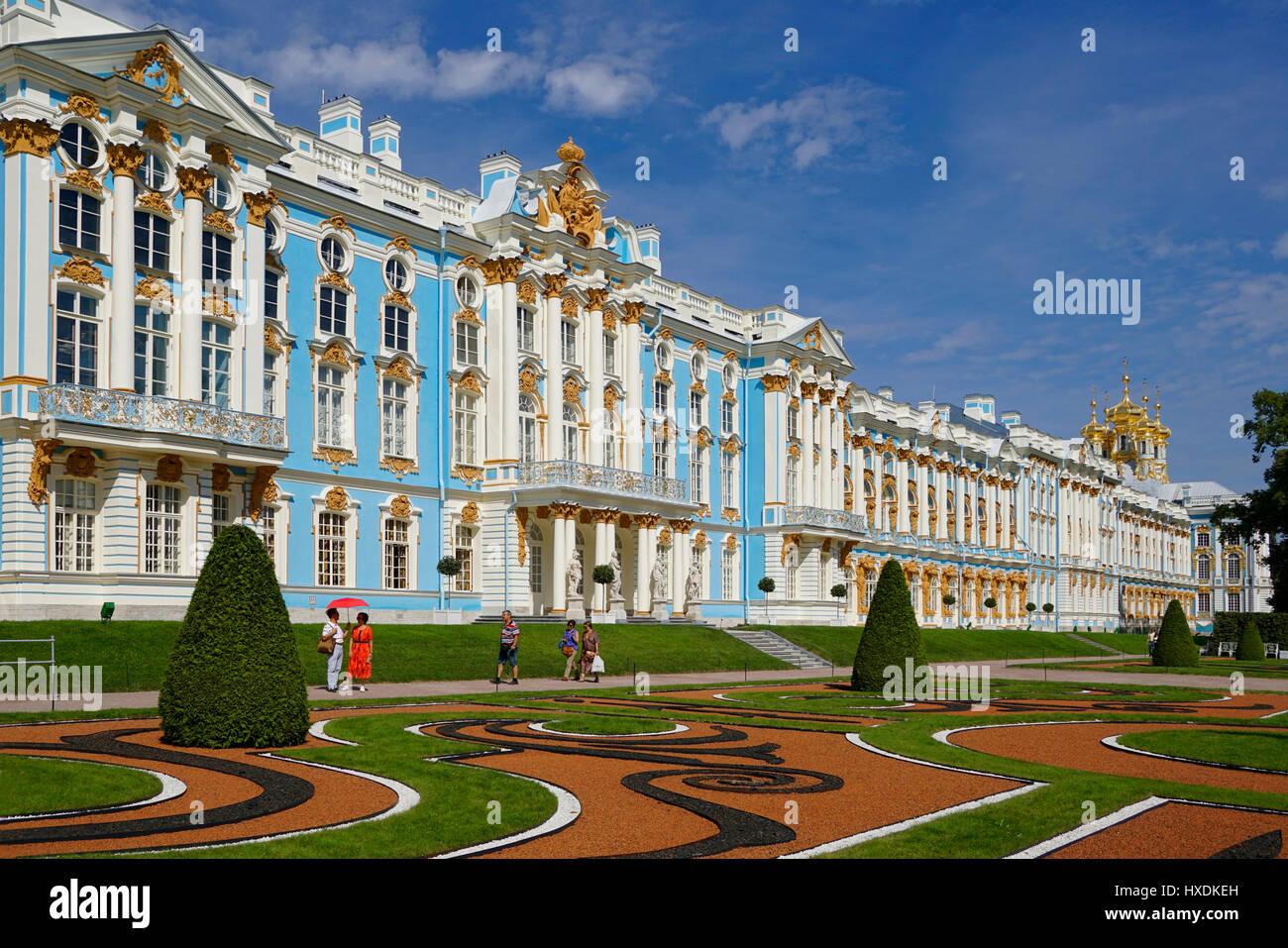 El Palacio de Catalina en Pushkin en San Petersburgo, Rusia. Imagen De Stock