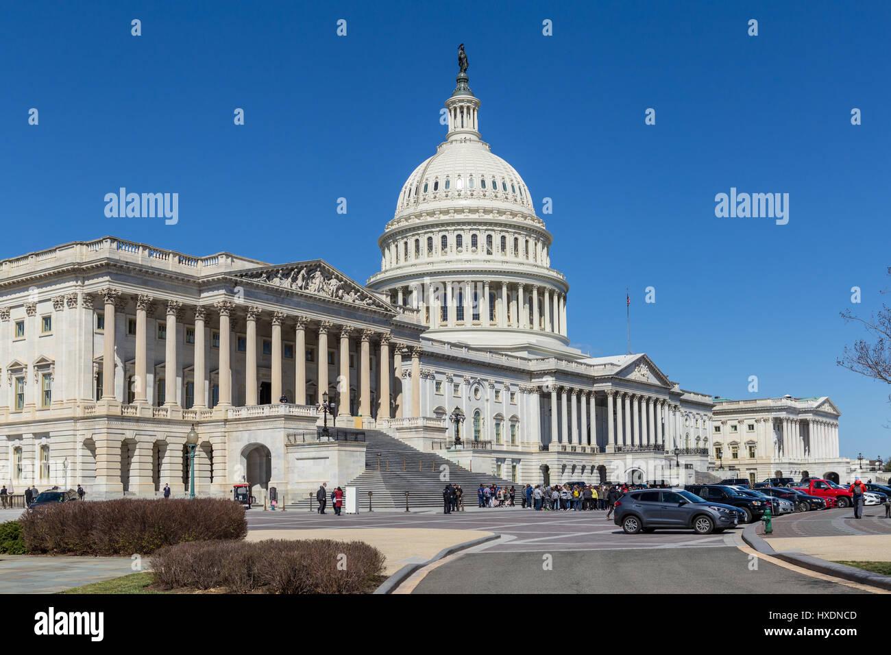 El edificio del Capitolio de Estados Unidos en Washington, DC. Imagen De Stock