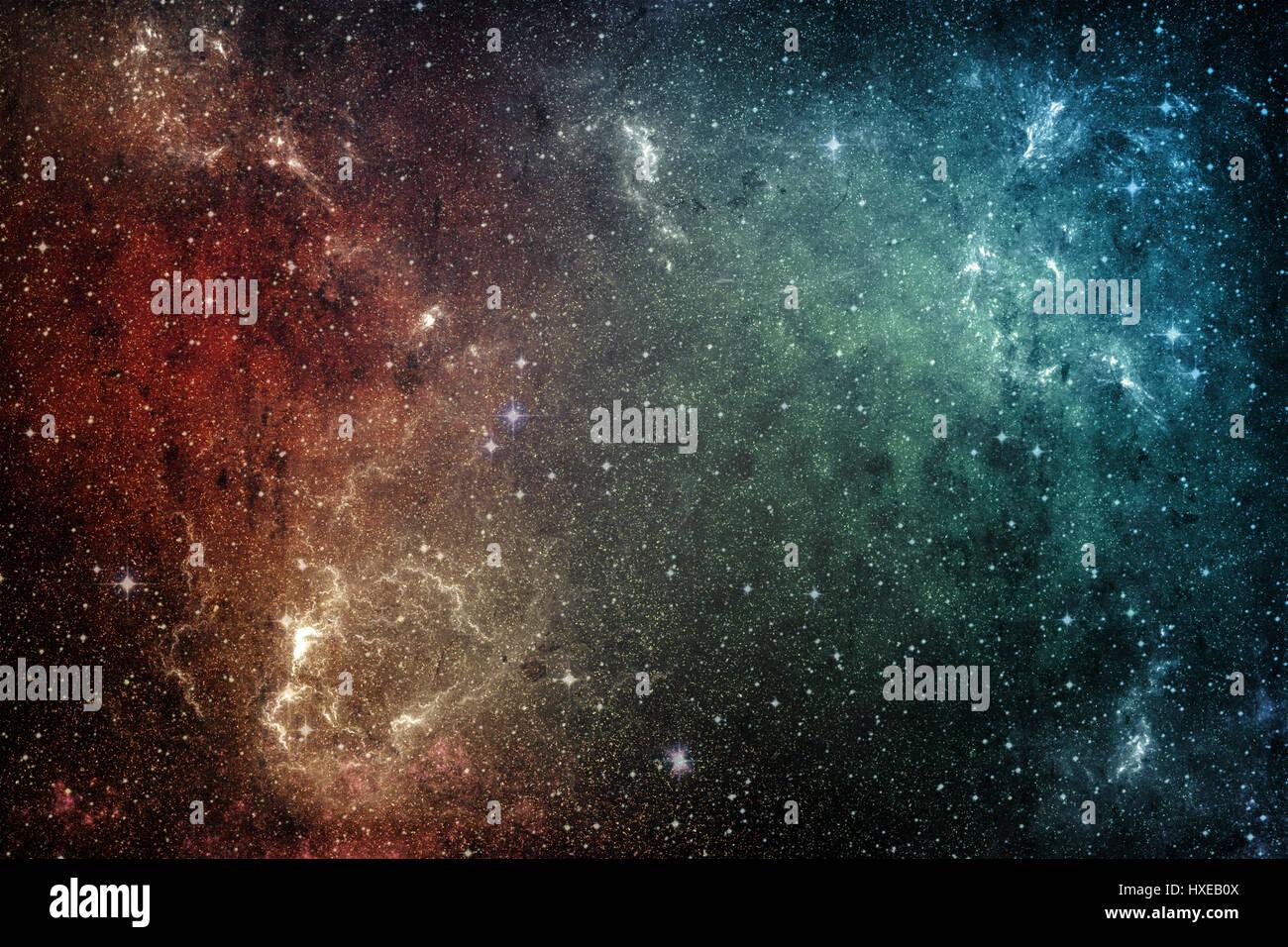 Fondo del espacio. Universo de estrellas y nebulosa galaxia Imagen De Stock