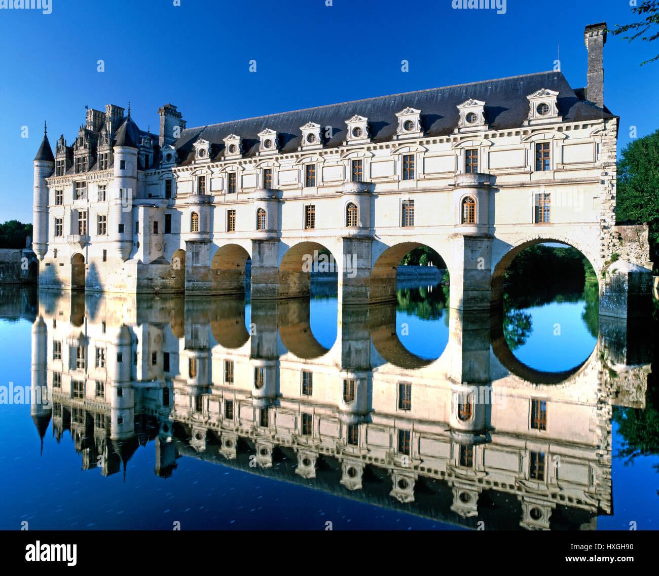 Château de Chenonceau, Valle del Loira, Francia Imagen De Stock