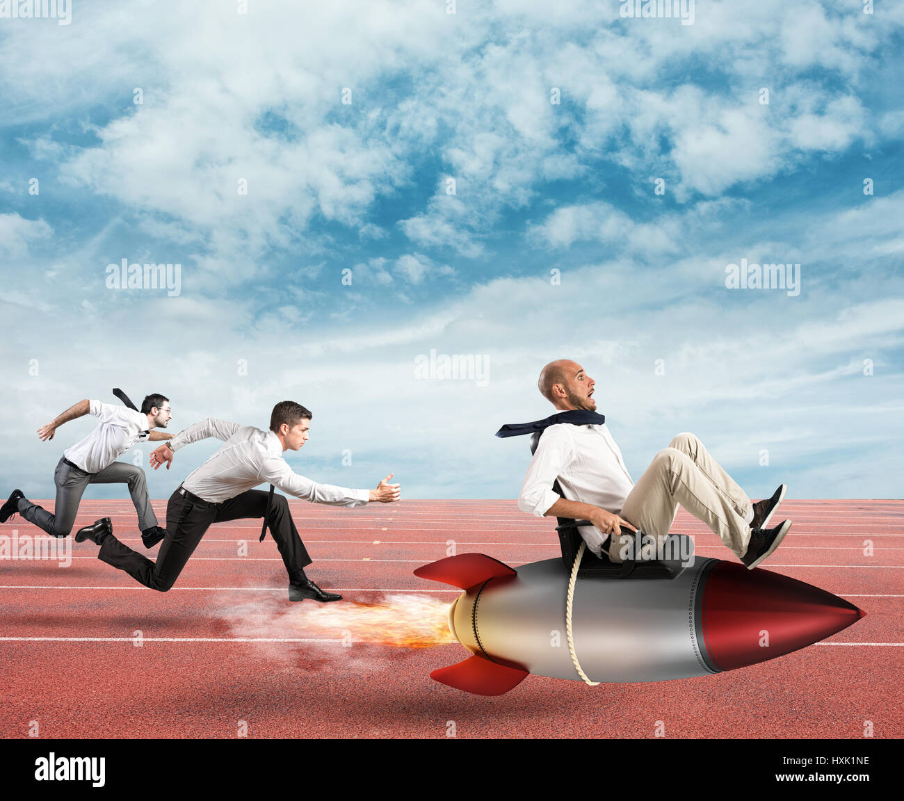 Superar y alcanzar el éxito Imagen De Stock