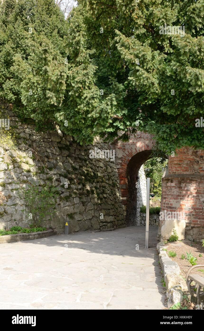 Arco De Ladrillo En El Sendero De La Colina Schlossberg En Graz La
