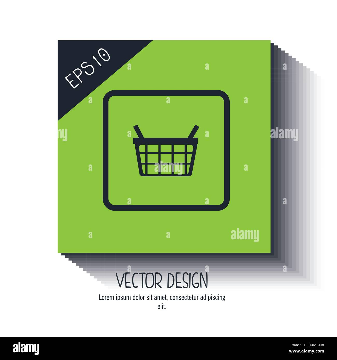 Diseño de icono de la cesta Imagen De Stock