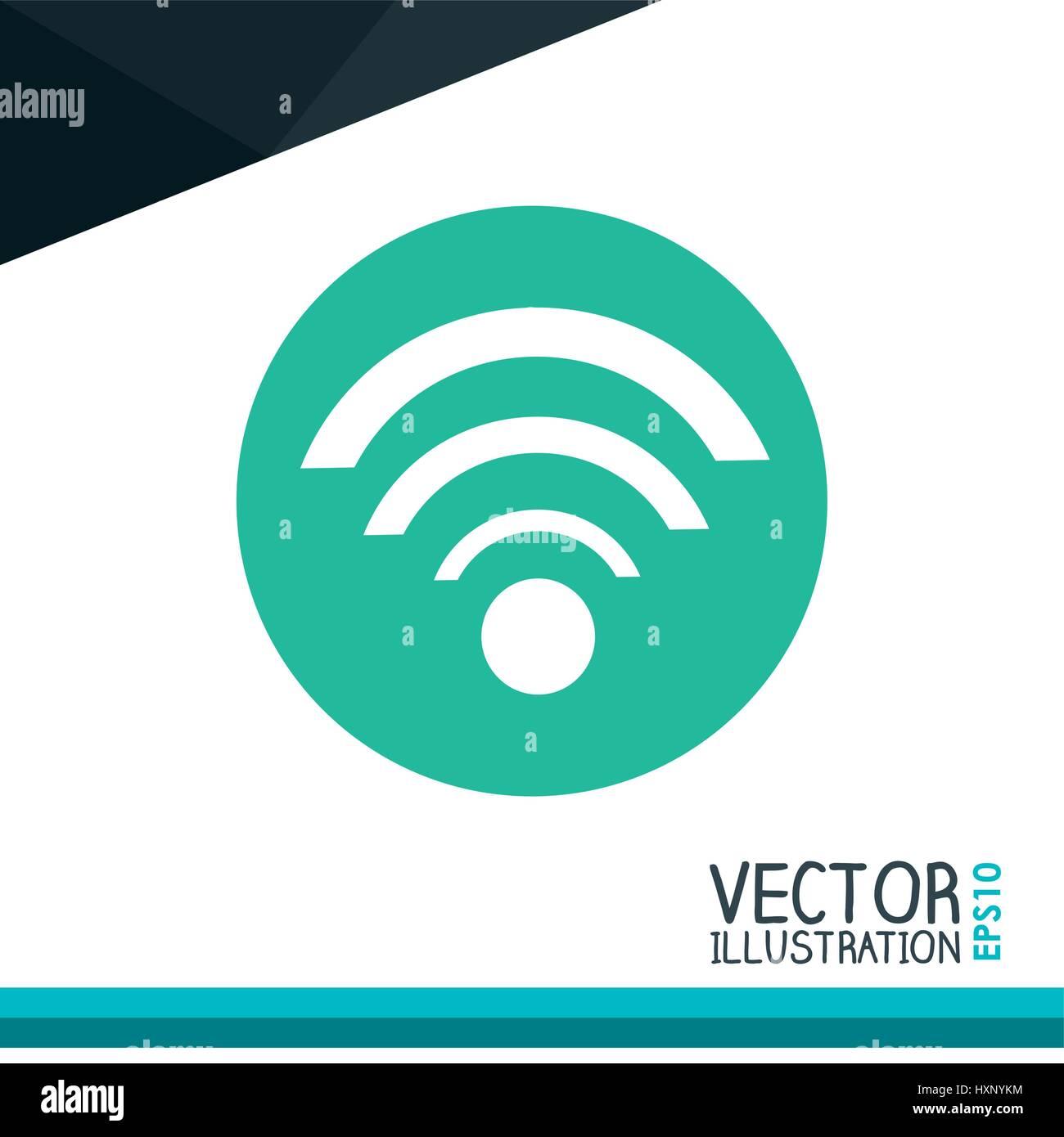 Diseño del icono wifi Imagen De Stock