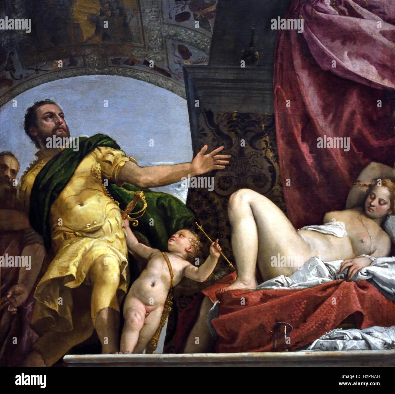 Paolo Caliari, conocido como Paolo Veronese (1528-1588), fue un pintor renacentista italiano, Venecia, Italia. Imagen De Stock