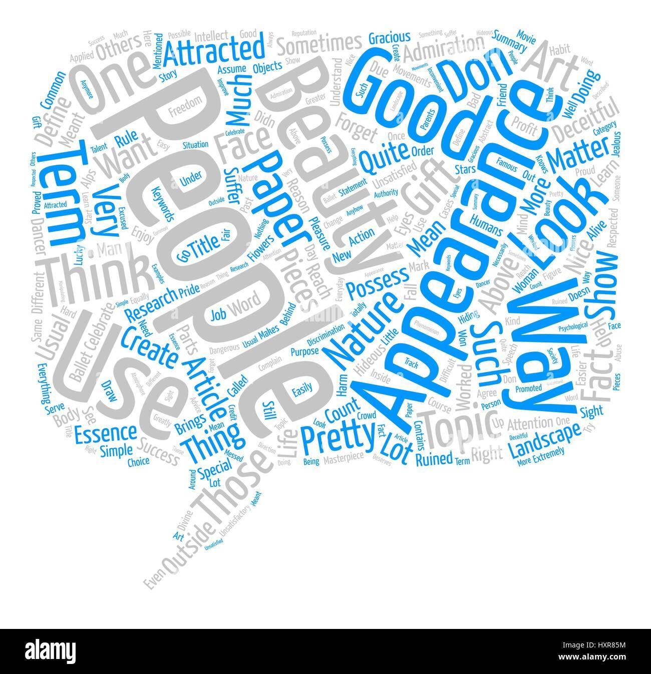 Las apariencias son engañosas palabra nube concepto fondo de texto Imagen De Stock