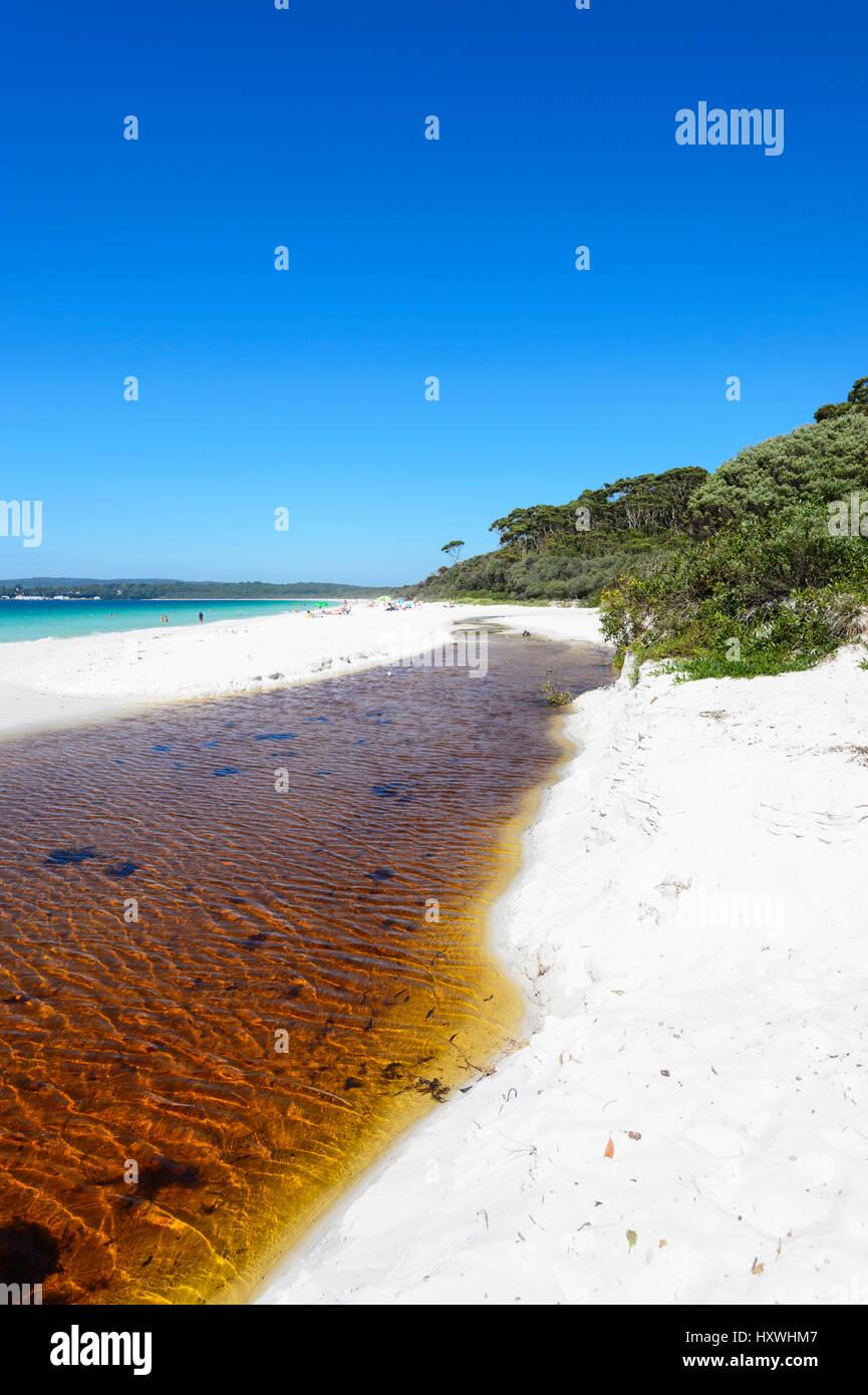 Hyams Beach es un espectacular tramo de Jervis Bay con fina arena blanca, Nueva Gales del Sur (NSW, Australia Imagen De Stock