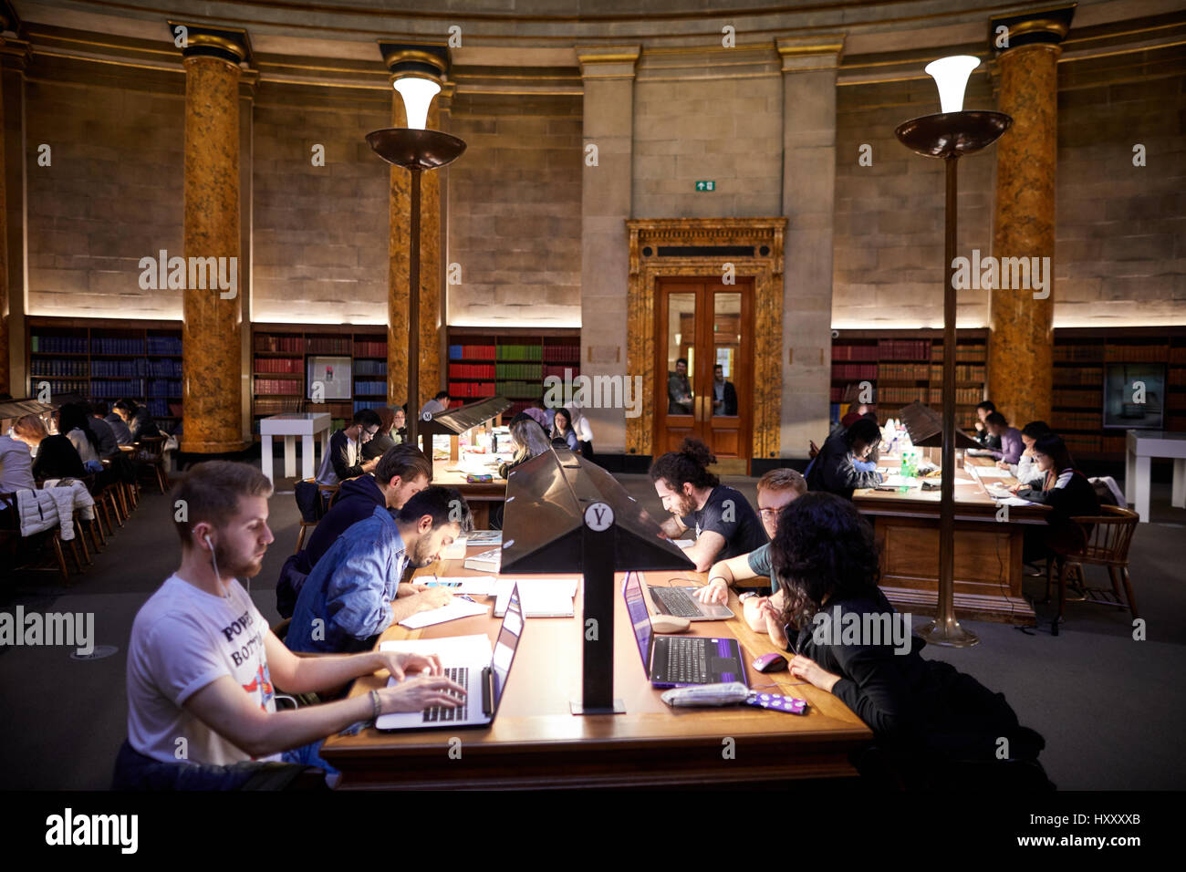 Manchester Central Library central Wolfson Sala de lectura Foto de stock