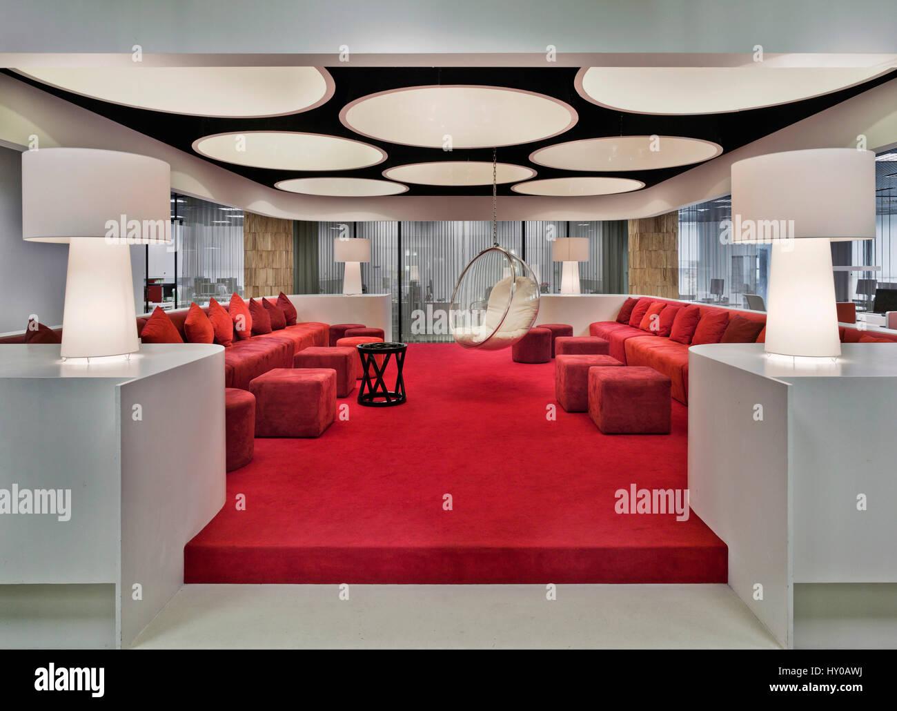 Moscú, interior, trabajo de oficina, diseño, decoración ...