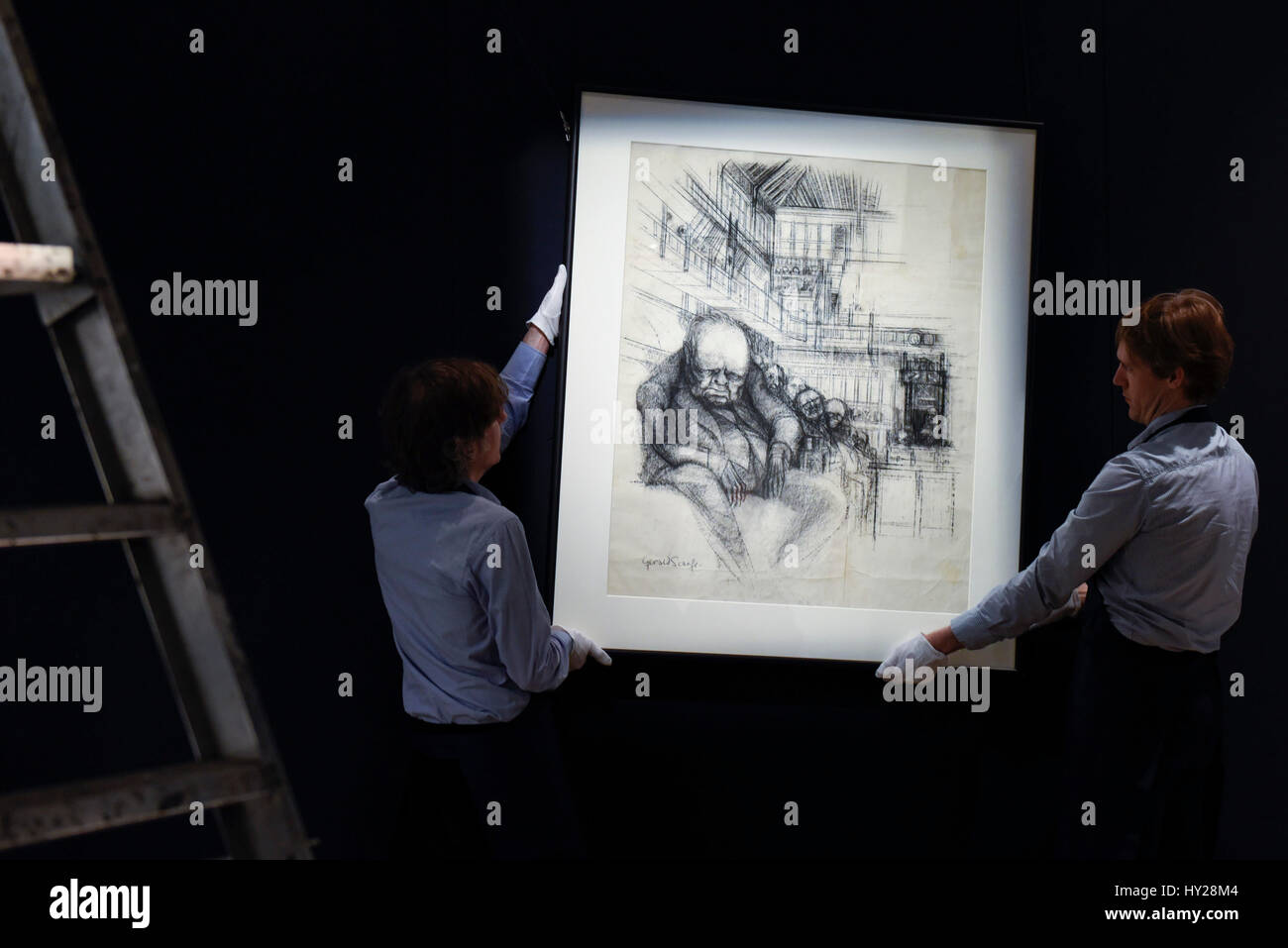 At Sothebys London Auction House Imágenes De Stock   At Sothebys ... eb2a616dde