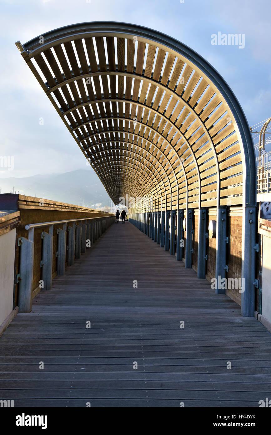 Playa pegli sestri multedo y puerto de aceite Foto de stock
