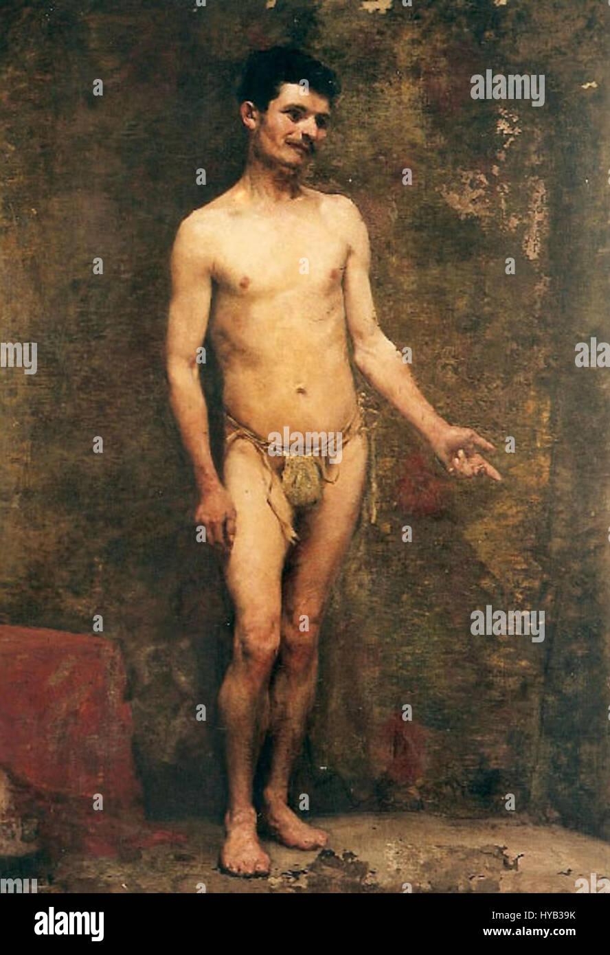 Eliseu Visconti Nu masculino 1892 Imagen De Stock