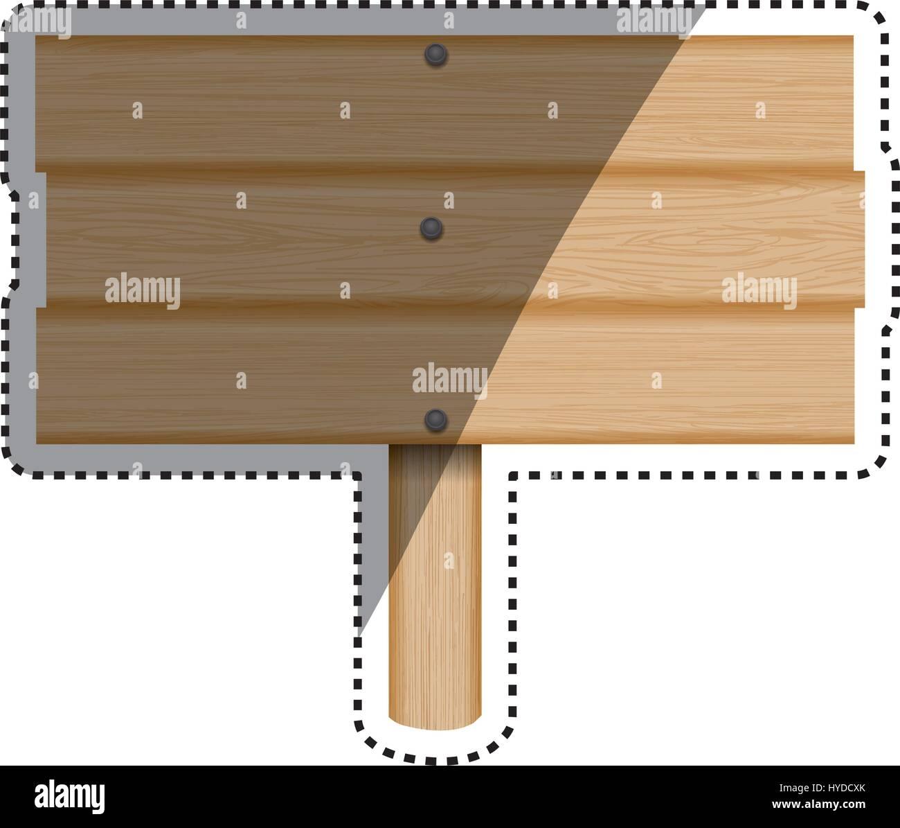 Firmar los tablones de madera de madera Imagen De Stock
