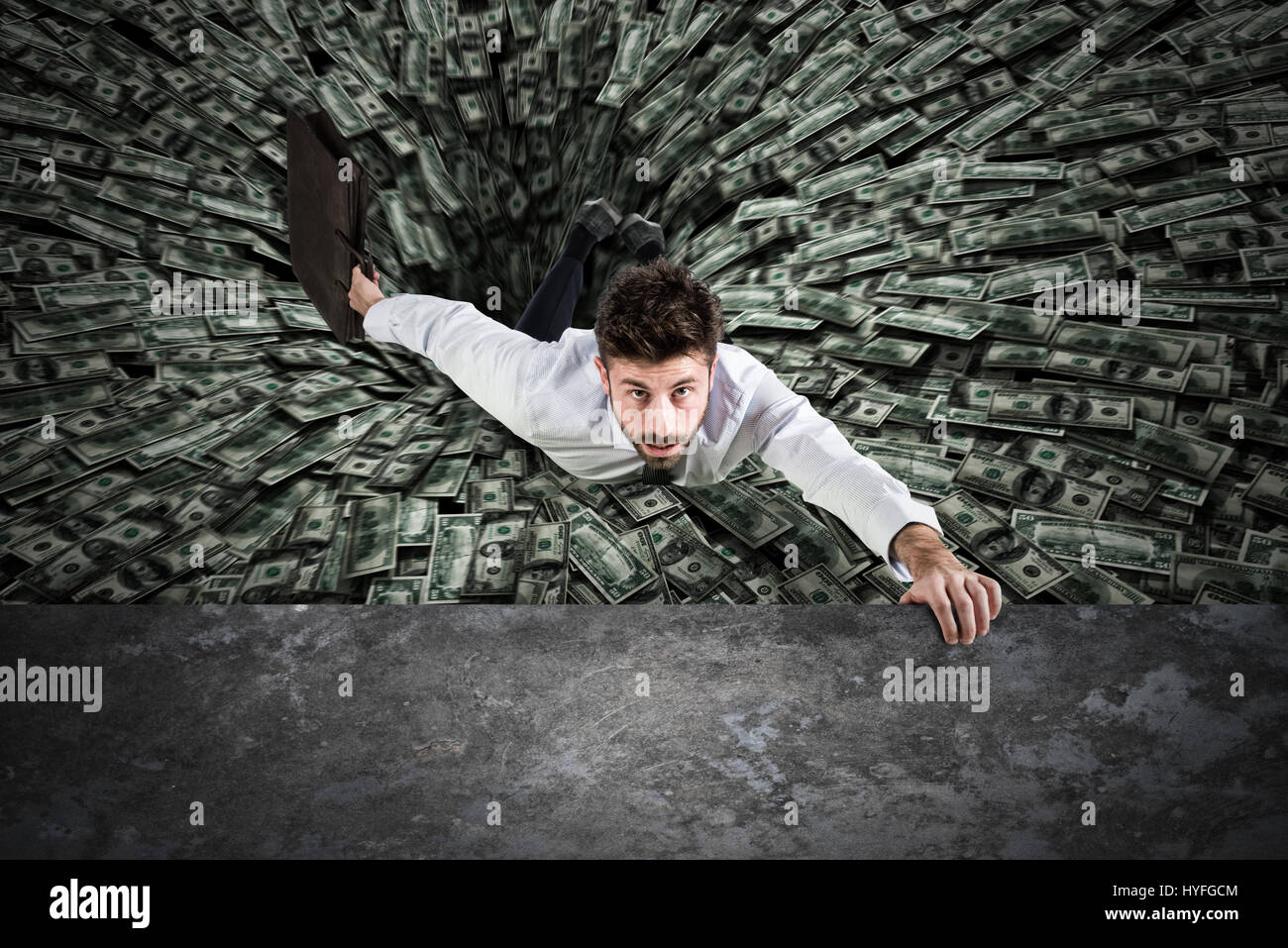 Agujero Negro de dinero Imagen De Stock