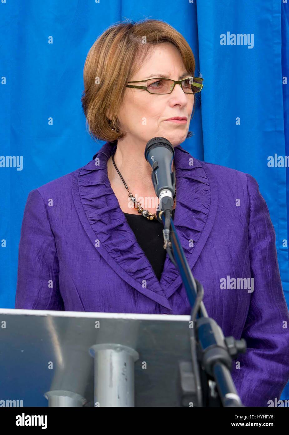 Louise Joyce Ellman es una cooperativa de trabajo británico político que ha sido miembro del Parlamento Imagen De Stock