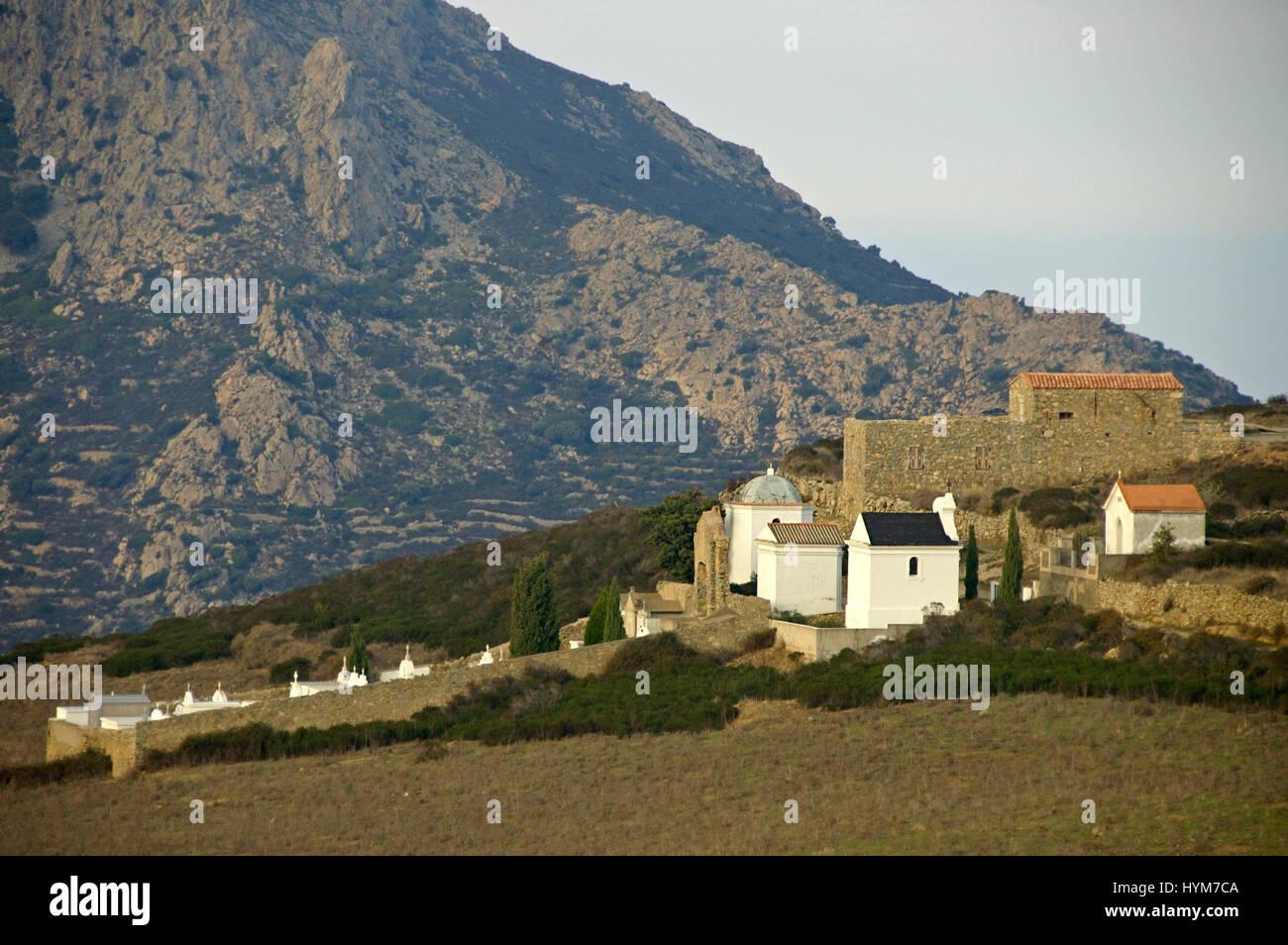 Aldea San Antonio en las montañas de Córcega Foto de stock
